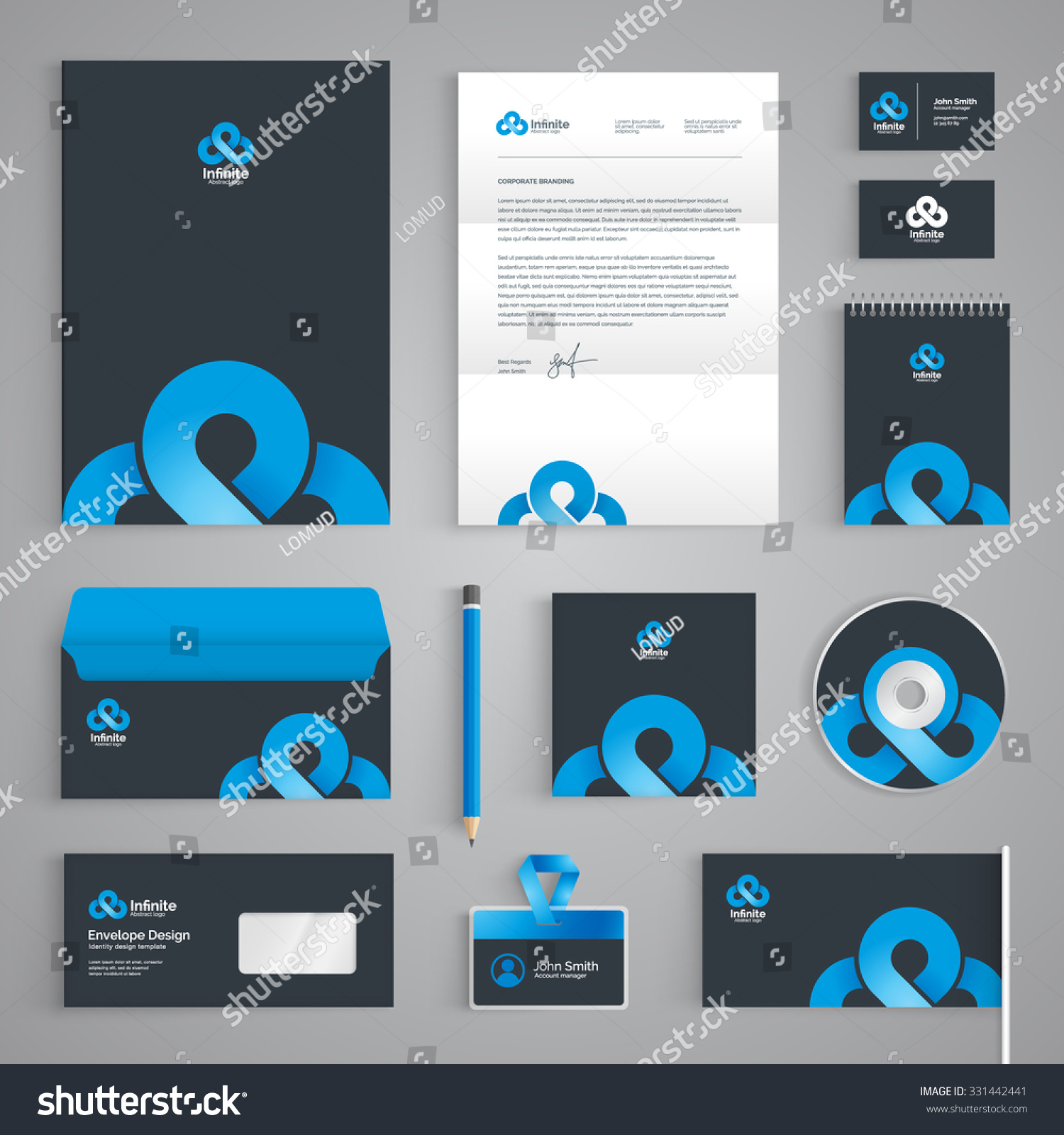 Corporate Identity Branding Template Abstract Vector Stock Vector