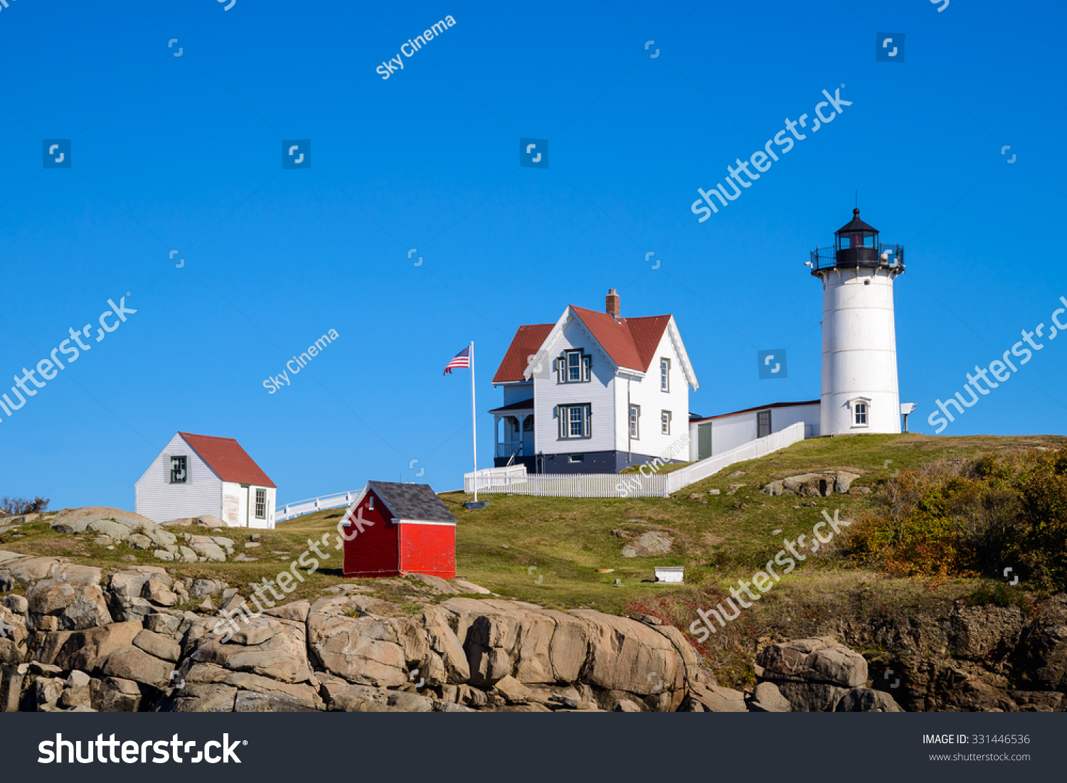 The Nubble Lighthouse in York, Maine | EZ Canvas