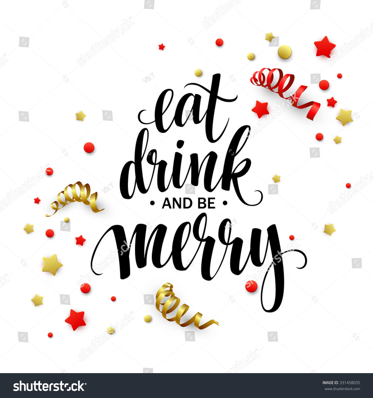 Eat Drink and Be Merry Clip Art