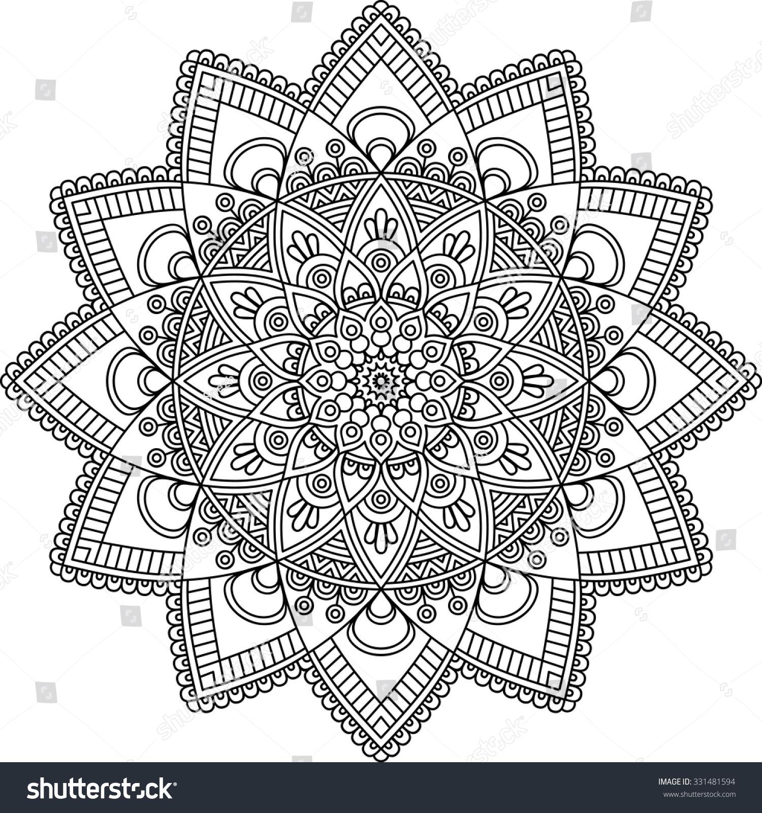 Mandala Vintage Decorative Elements Oriental Pattern Stock Vector 331481594