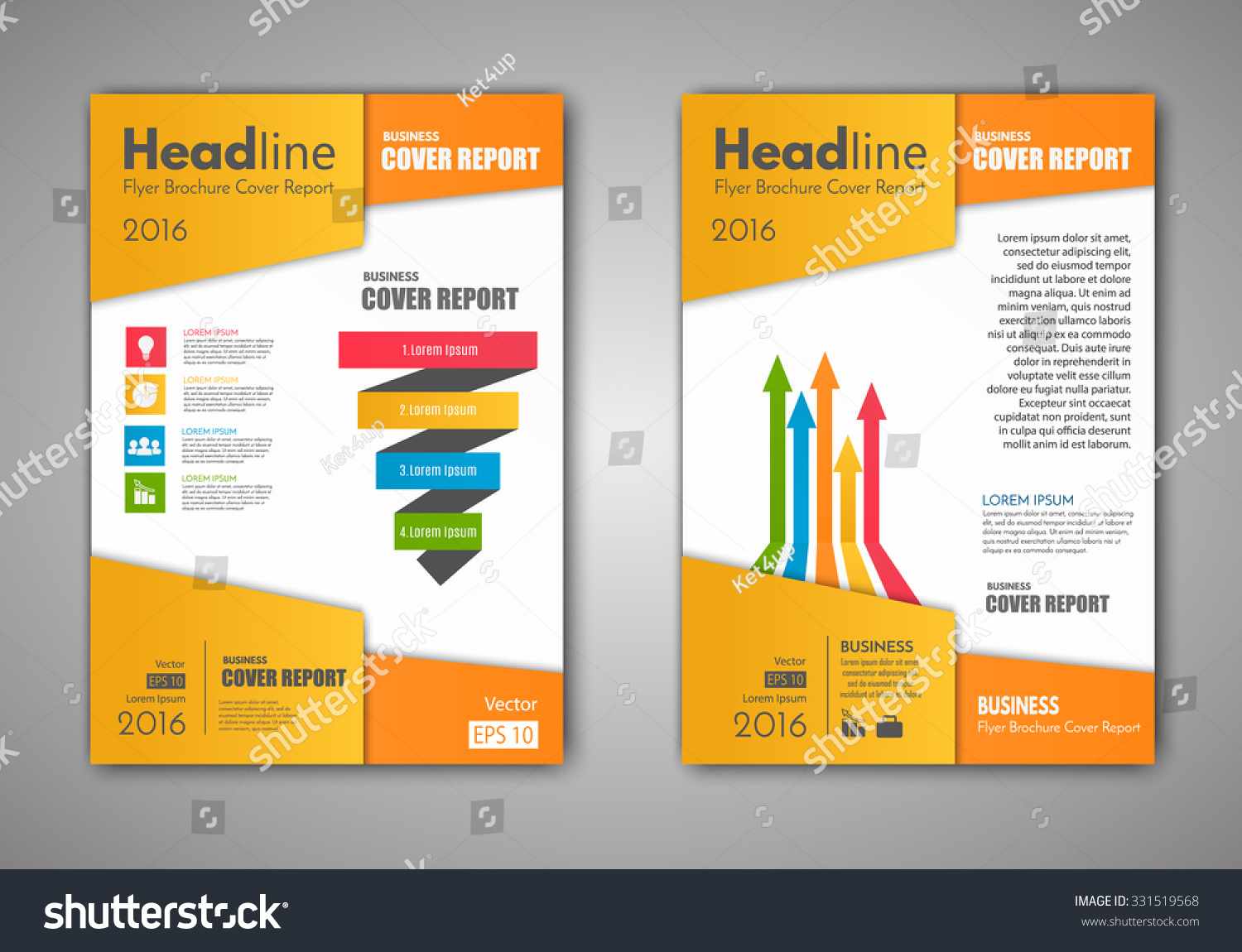 vector brochure flyer design layout template stock vector royalty