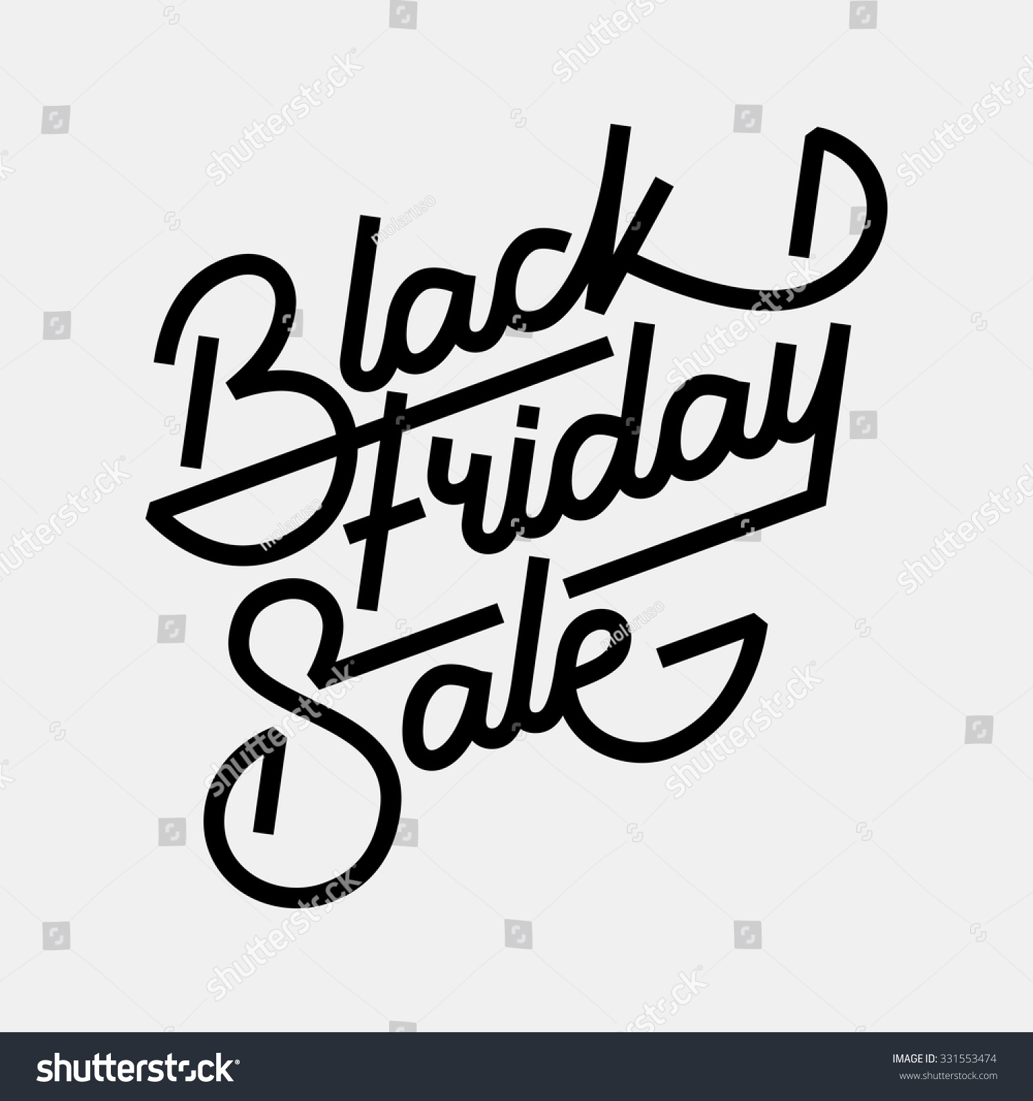 Black Friday Sale Handmade Lettering Calligraphy With