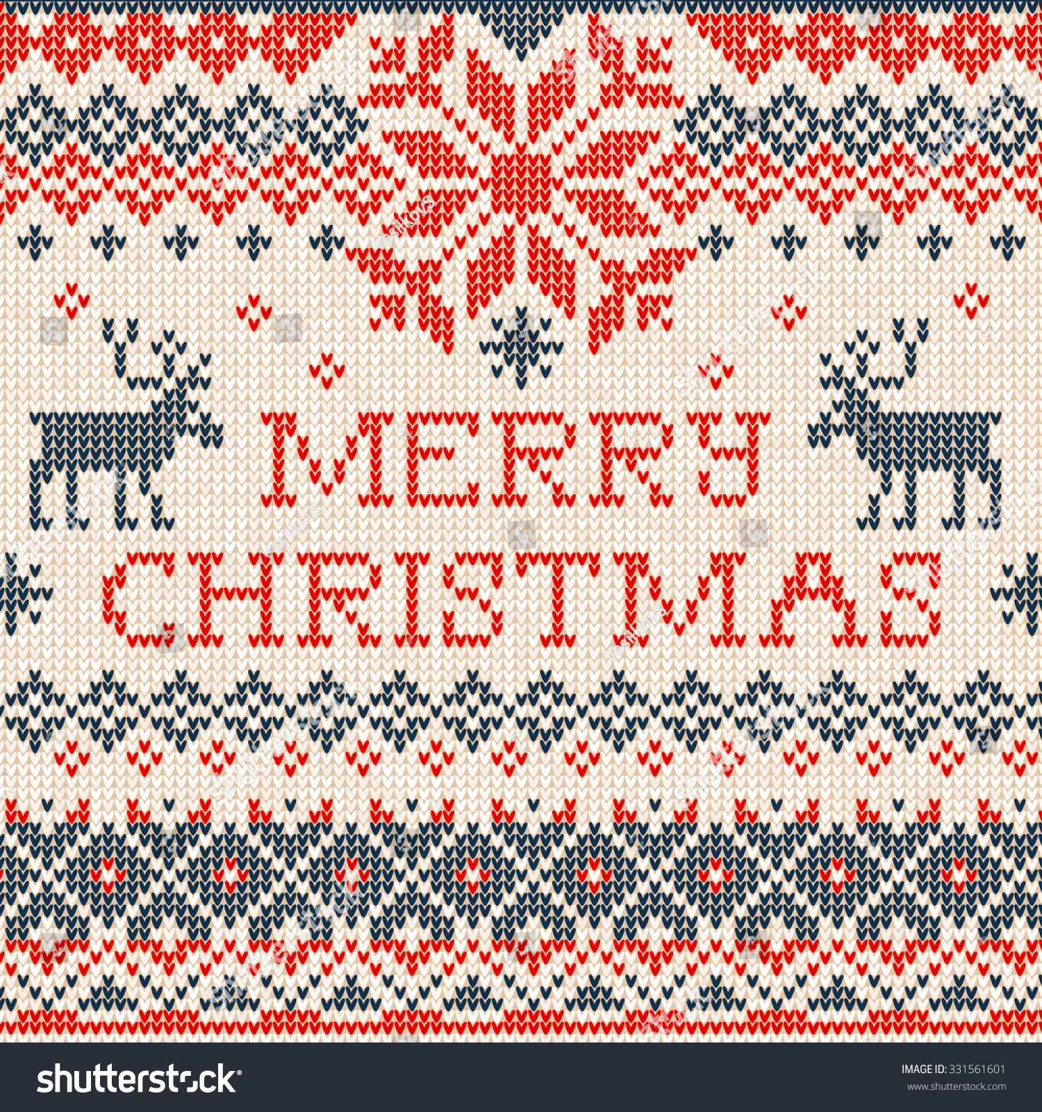 Vector illustration merry christmas scandinavian or russian style