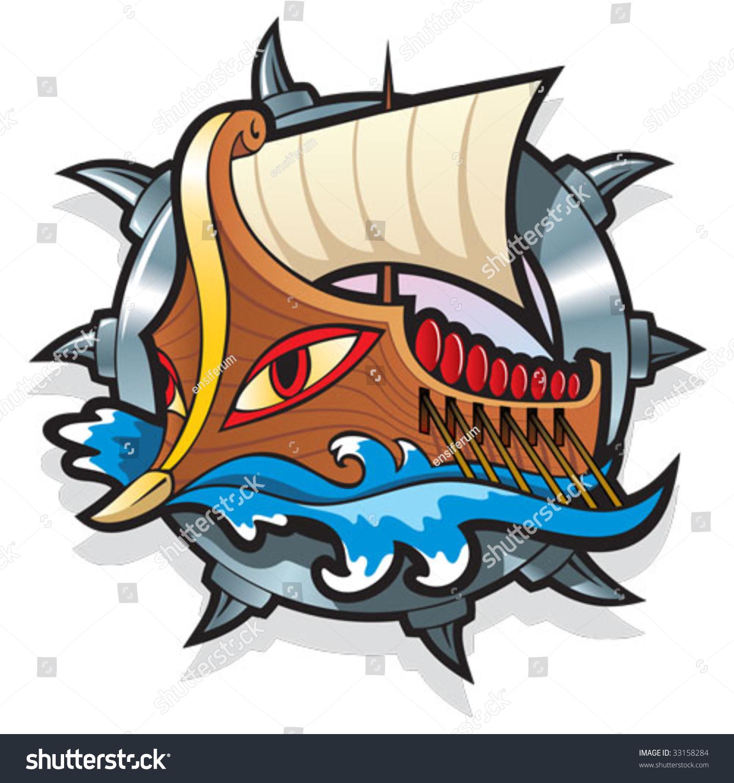 Argo Greek Mythology Legendary Ship On Stock Vector Royalty Free