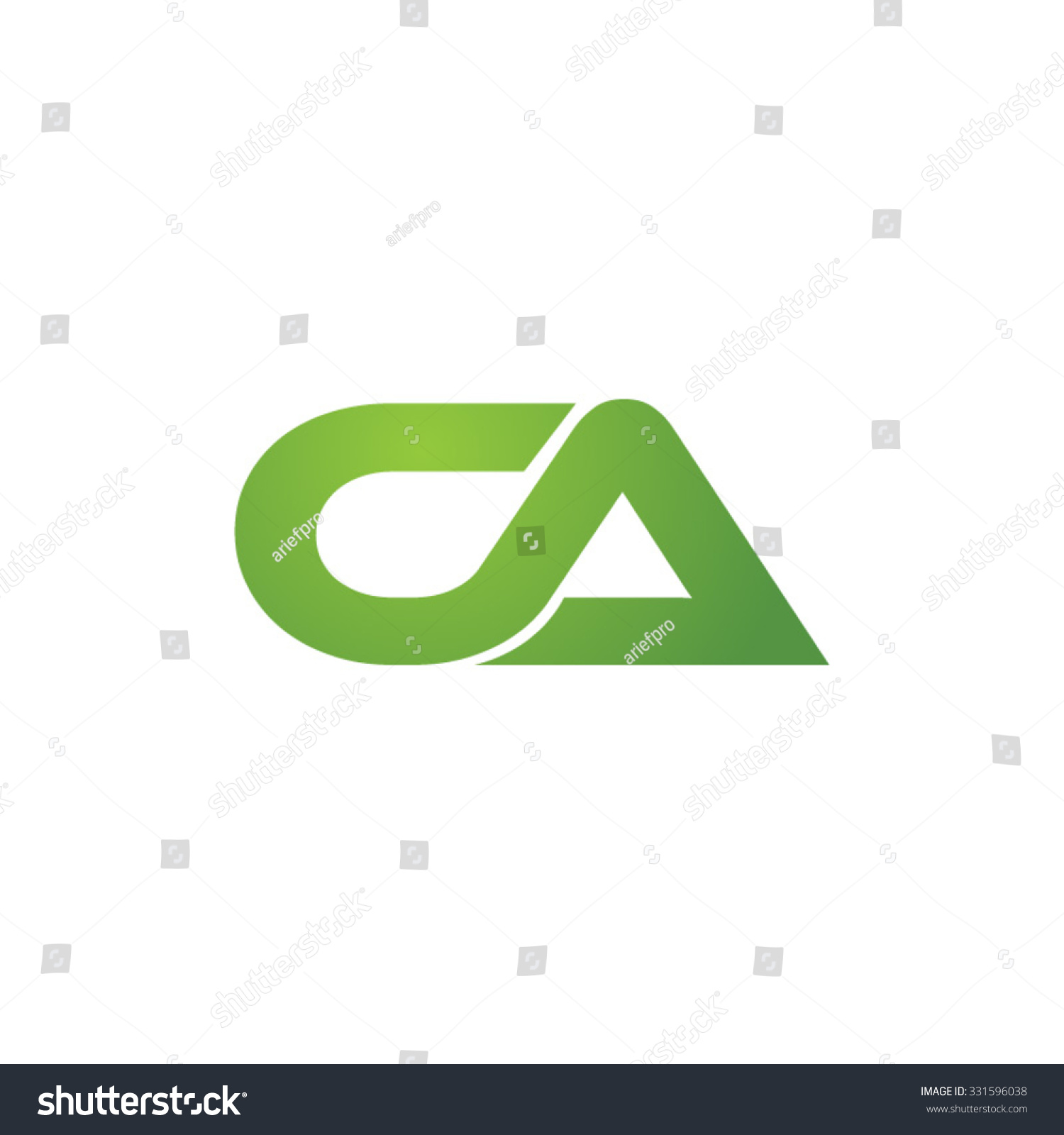 Ca company linked letter logo green stock vector 331596038 ca company linked letter logo green biocorpaavc