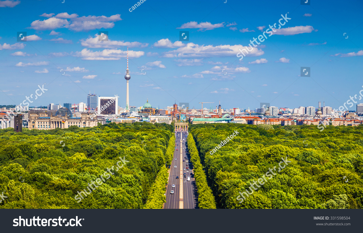 aerial view berlin skyline panorama grosser stock photo 331598504 shutterstock. Black Bedroom Furniture Sets. Home Design Ideas