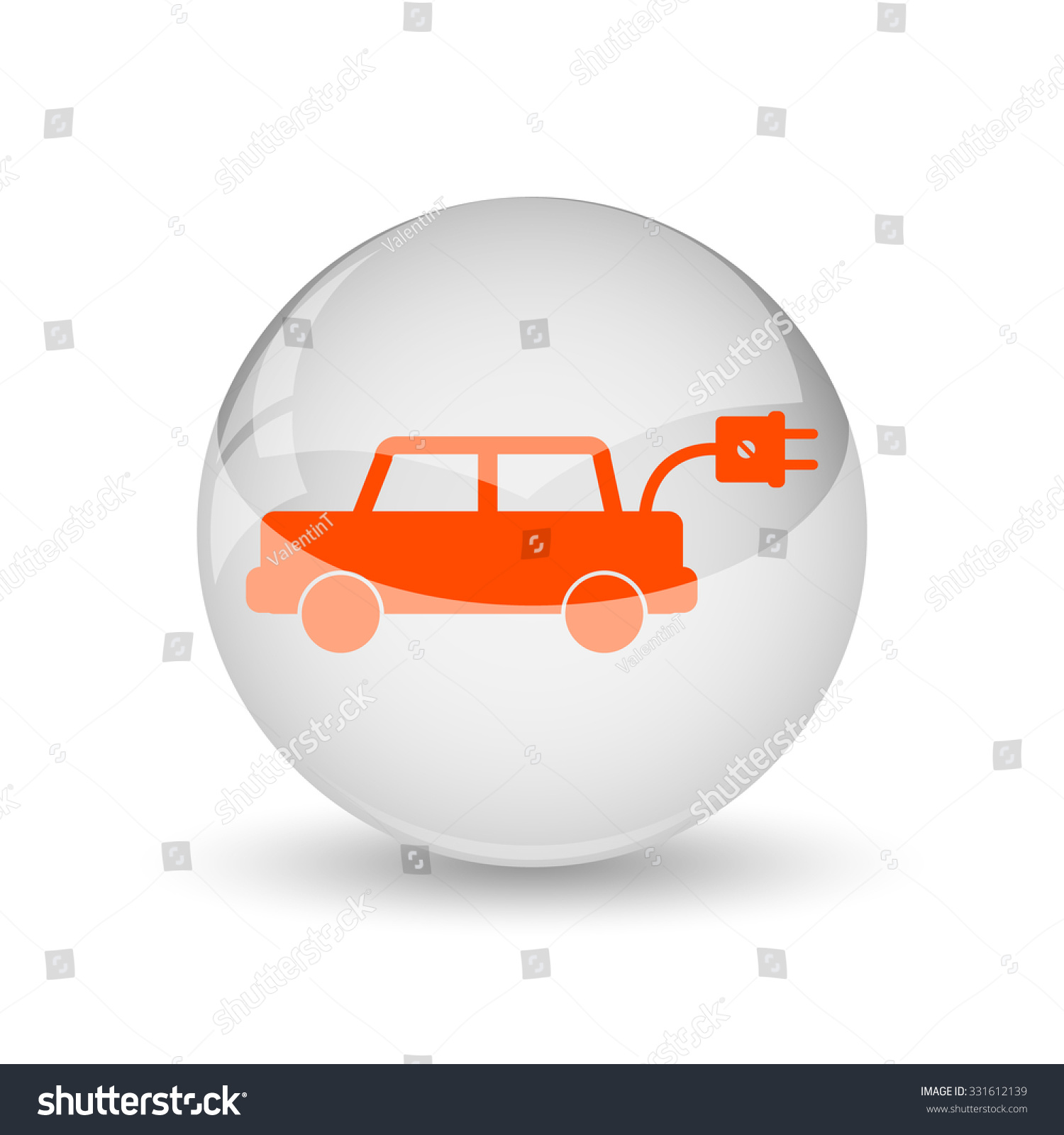 electric car icon internet button on white background stock photo 331612139 shutterstock. Black Bedroom Furniture Sets. Home Design Ideas