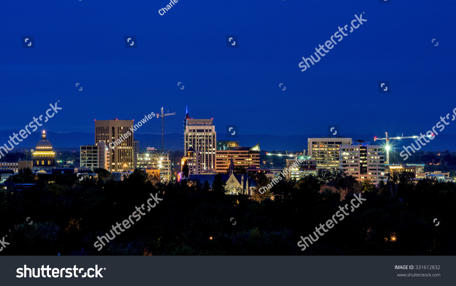 Beautiful Skyline of Boise Idaho