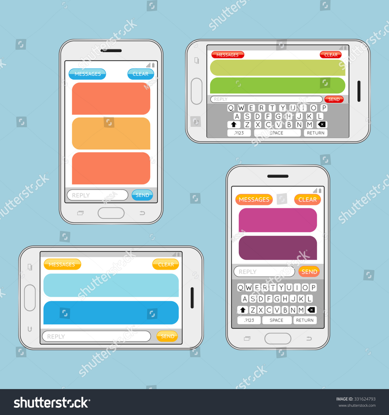 Дизайн рекламы send message