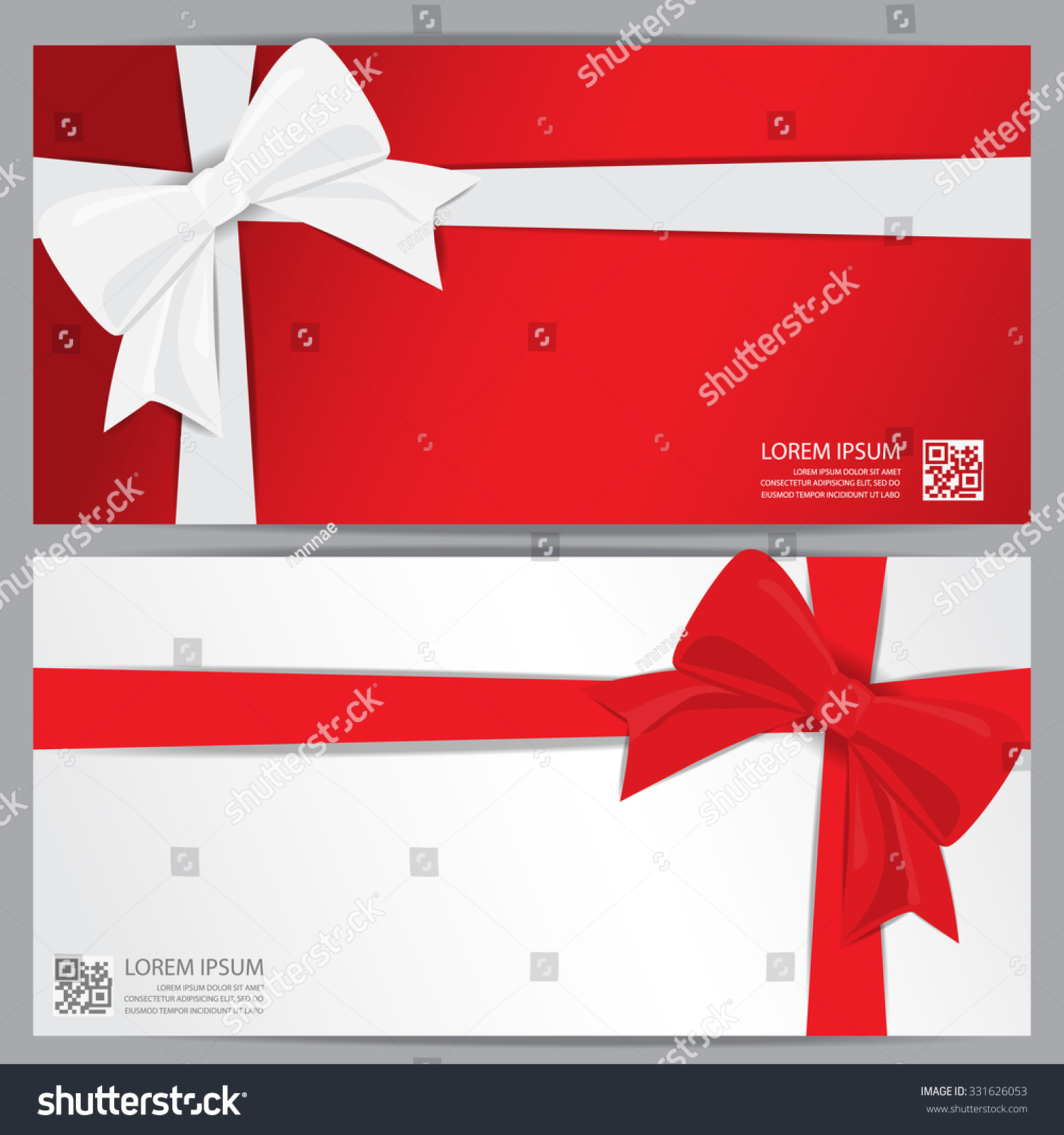 christmas holiday new year gift voucher stock vector  christmas holiday and new year gift voucher certificate coupon template can be use for business