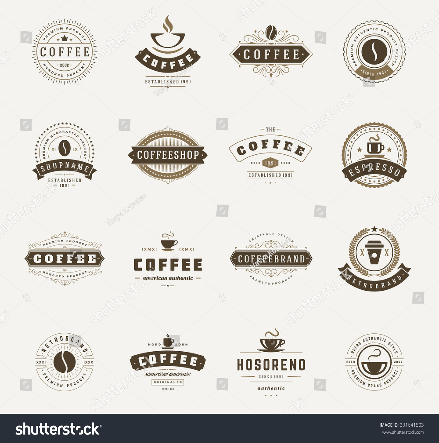 Art logo logo s coffee logo coffee shop coffee design shop logo coffee - Coffee Shop Logos Badges And Labels Design Elements Set Cup Beans Cafe