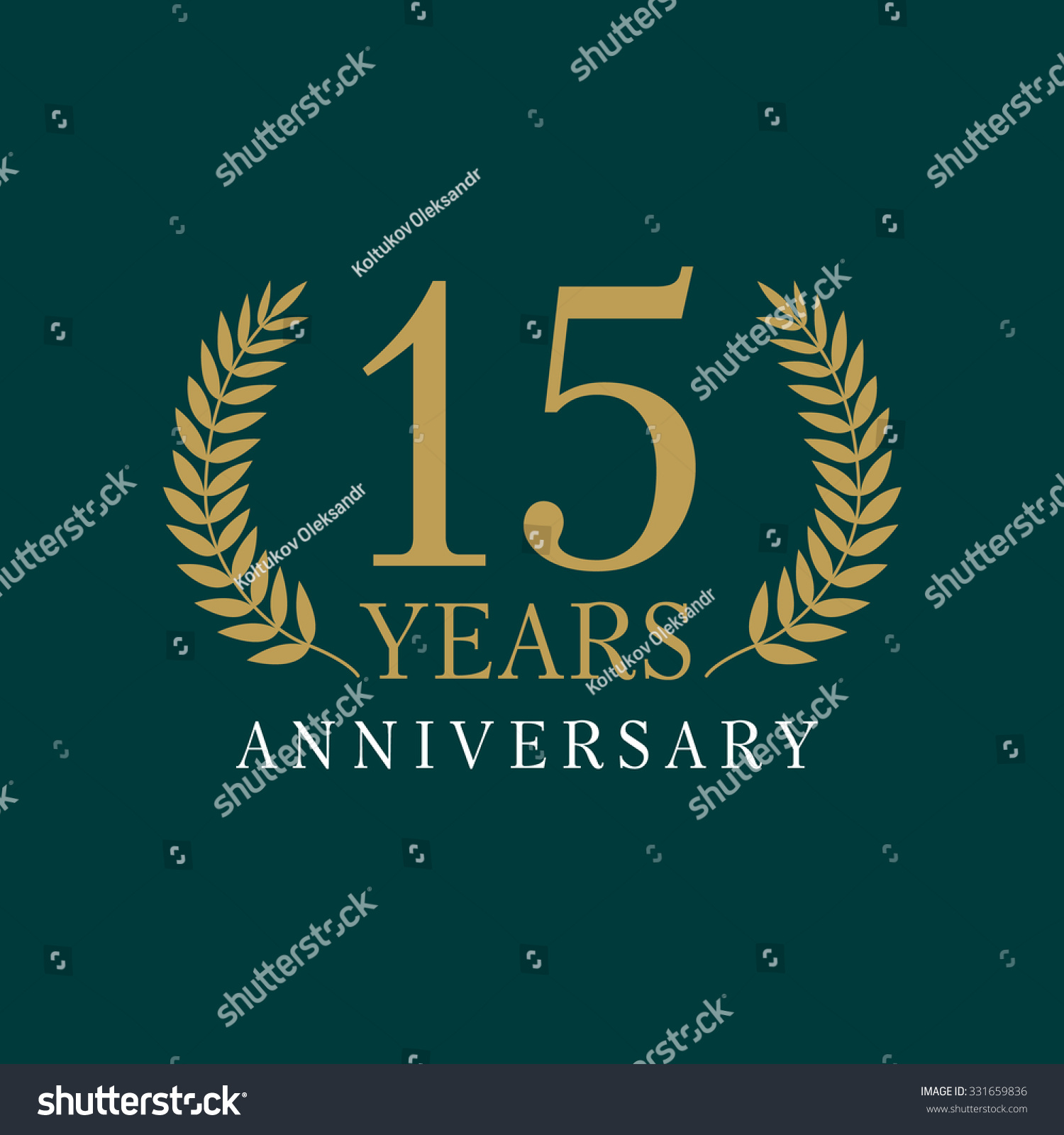 15 Years Old Luxurious Numbers Congratulations Stock Vector (2018 ...