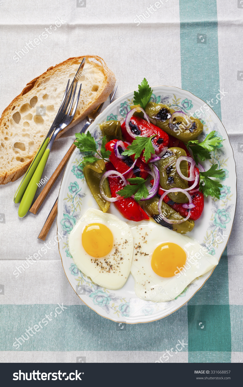 Light healthy lunch fried egg salad stock photo 331668857 shutterstock light healthy lunch with fried egg and salad sisterspd