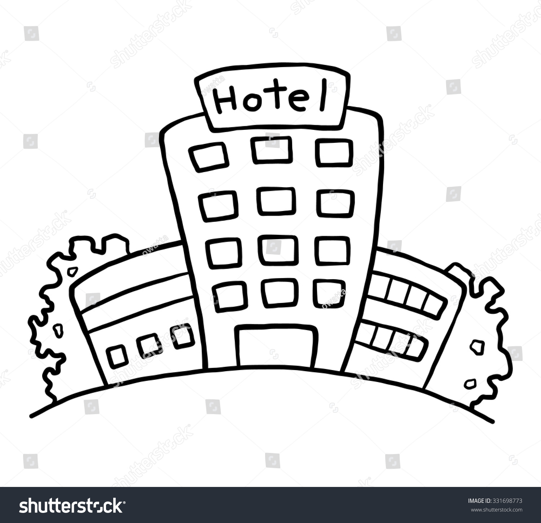 Cartoon Hotel Symbol