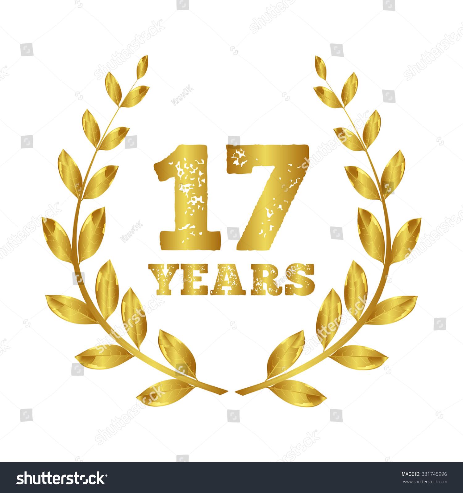 Seventeen years 17 icon seventeen years stock vector 331745996 seventeen years anniversary laurel wreath 17 years buycottarizona