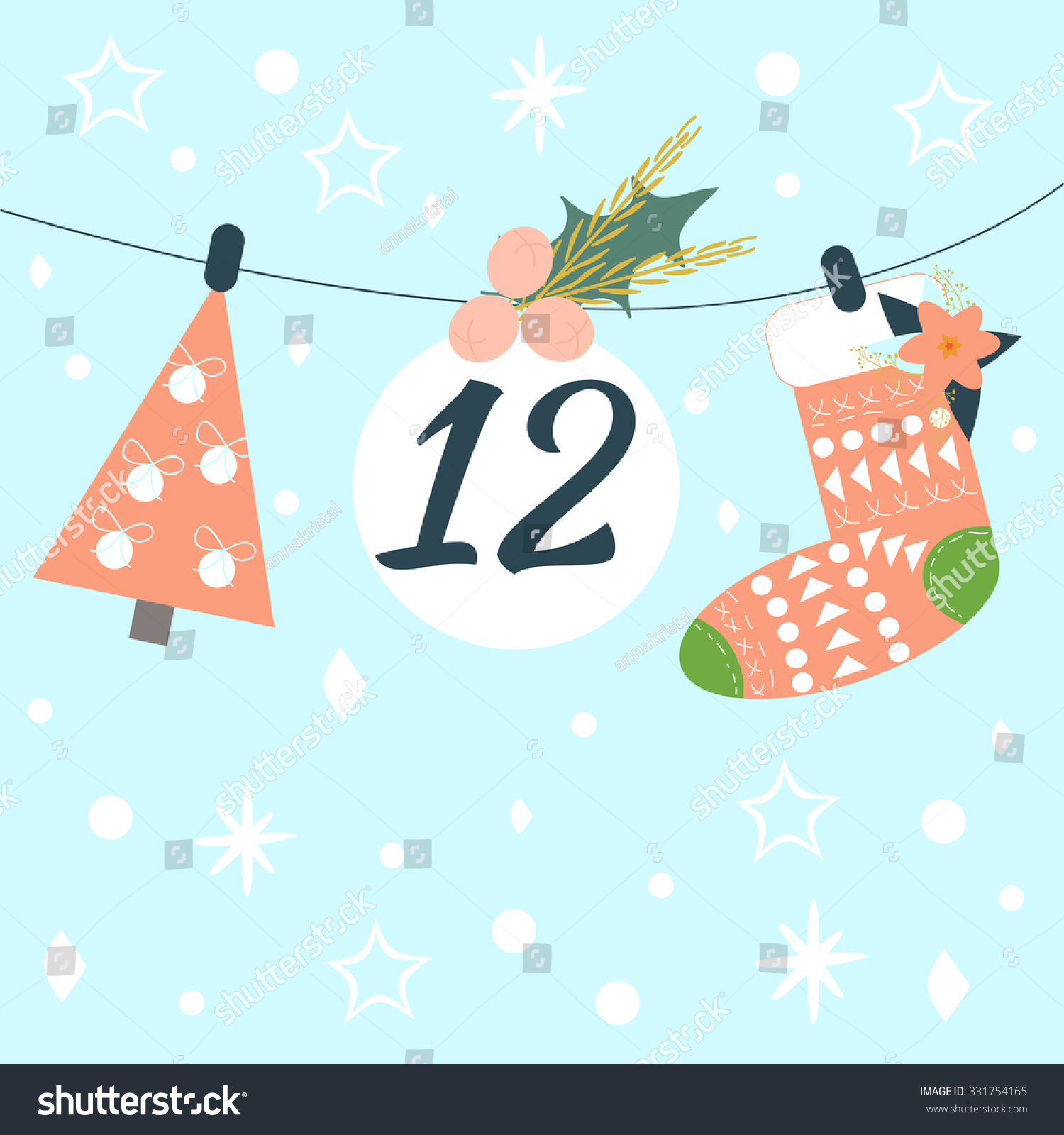 Christmas Calendar Illustration : Advent calendar vector illustration countdown christmas