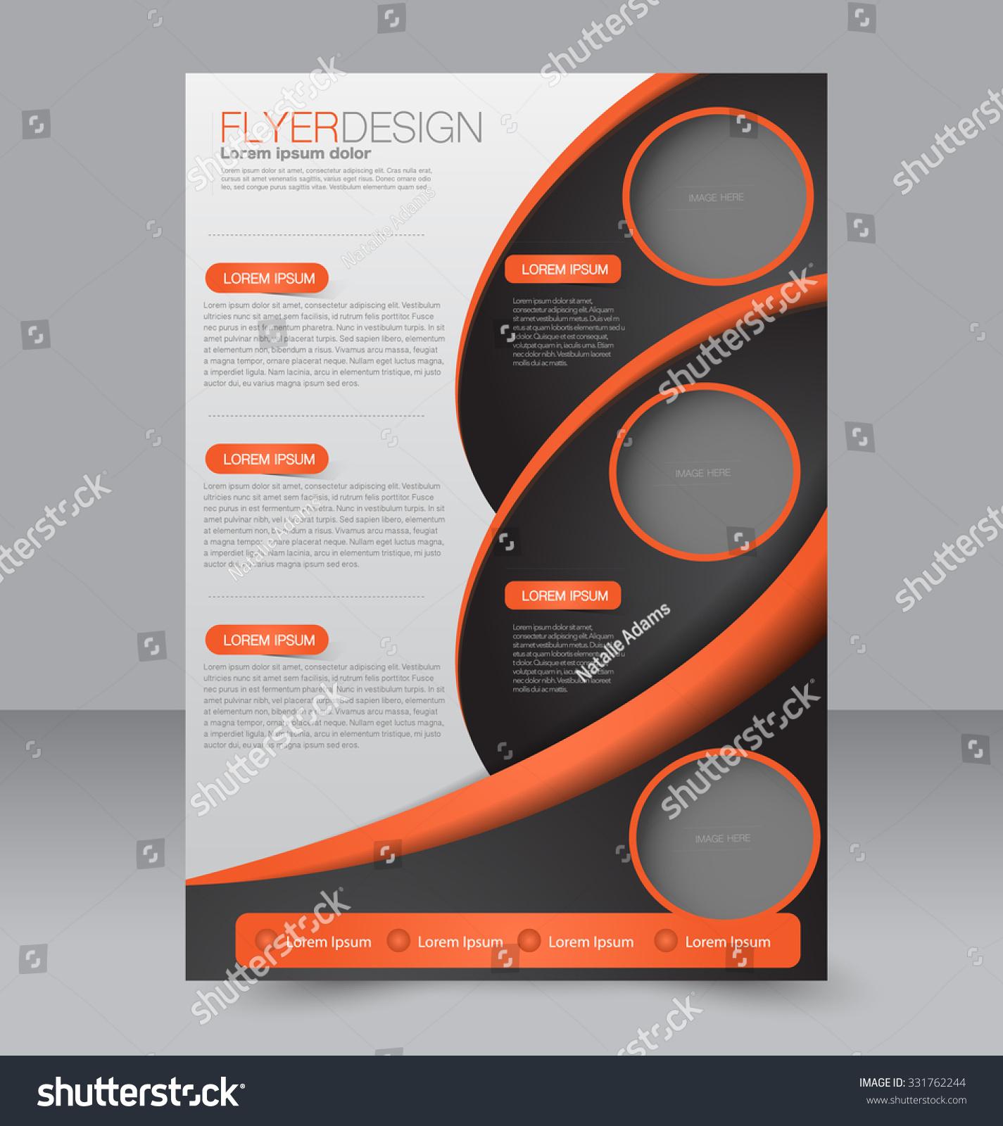 brochure design flyer template editable a4 stock vector