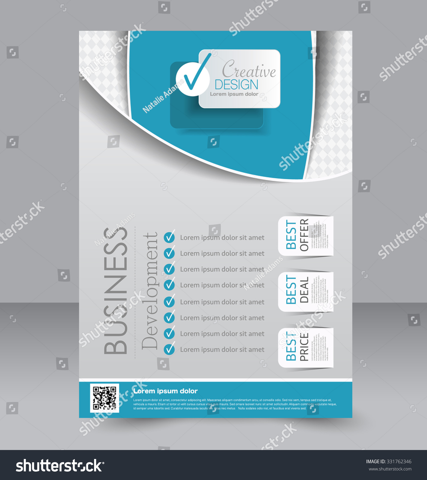 Brochure Design Flyer Template Editable A4 Stock Vector 331762346 ...