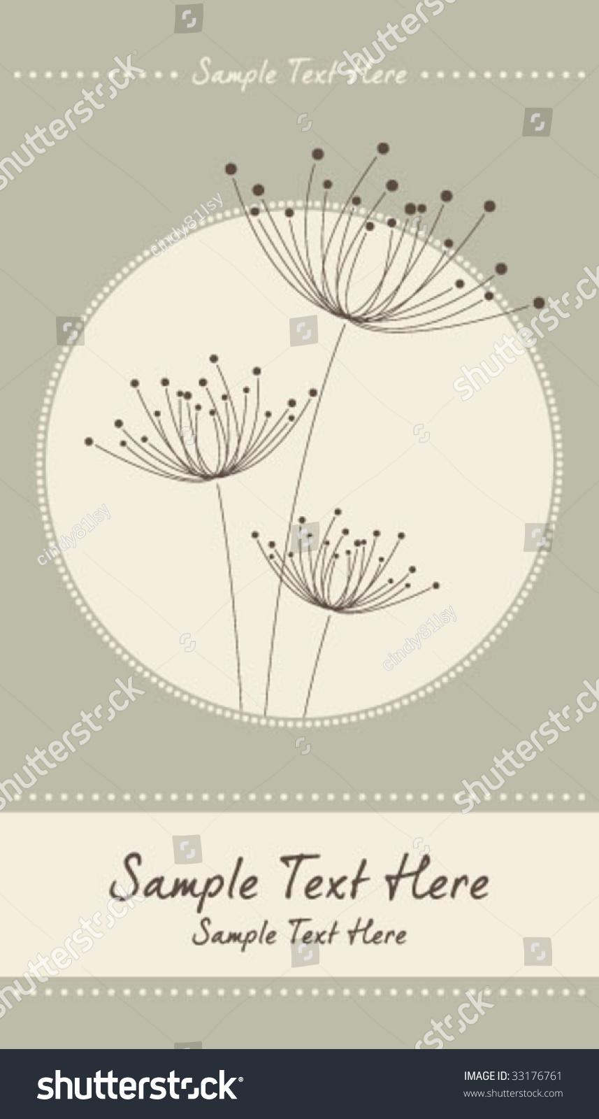 dandelion template 03 stock vector 33176761 shutterstock