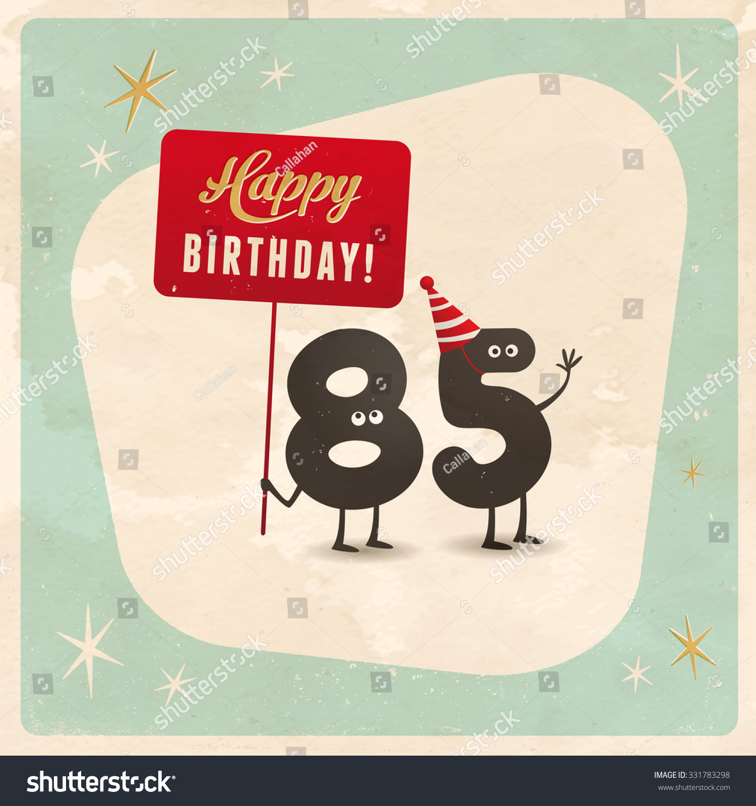 Vintage Style Funny 85th Birthday Card