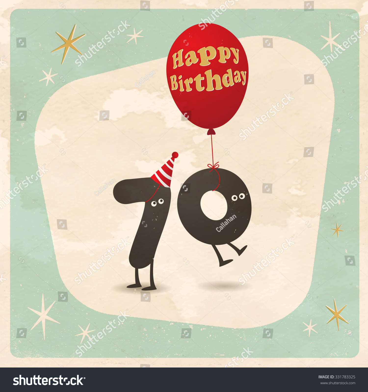 Vintage Style Funny 70th Birthday Card Vector 331783325 – Funny 70th Birthday Cards
