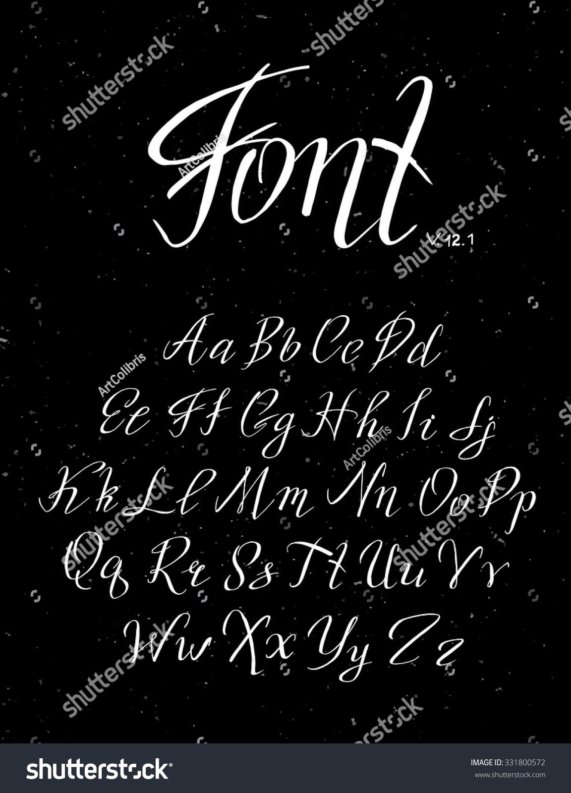 Handwritten calligraphy quote font stock vector