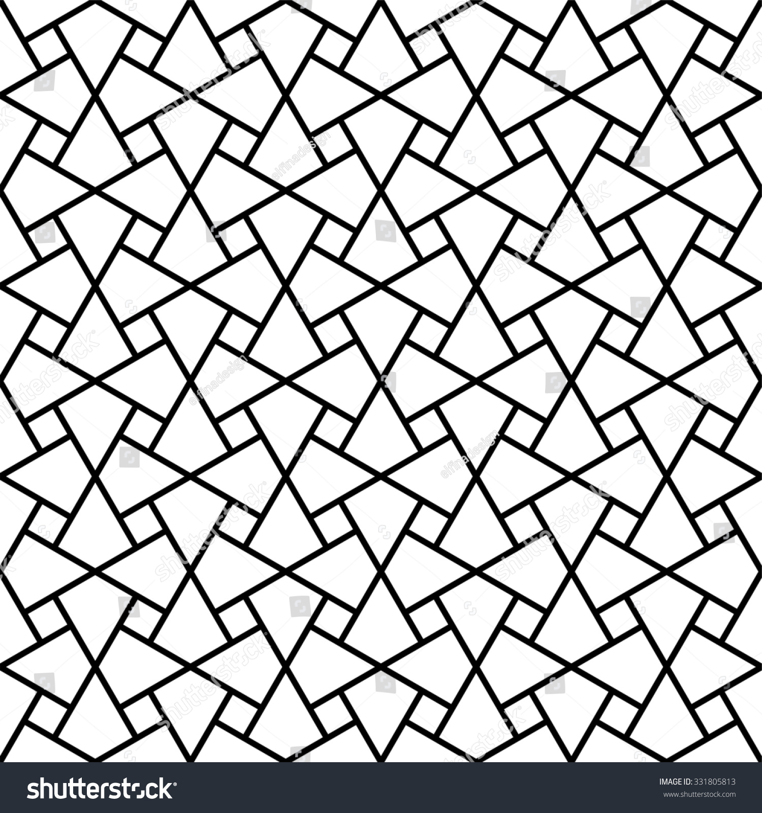 Islamic Pattern Vector Abstract Geometric Pattern Stock Vector ...