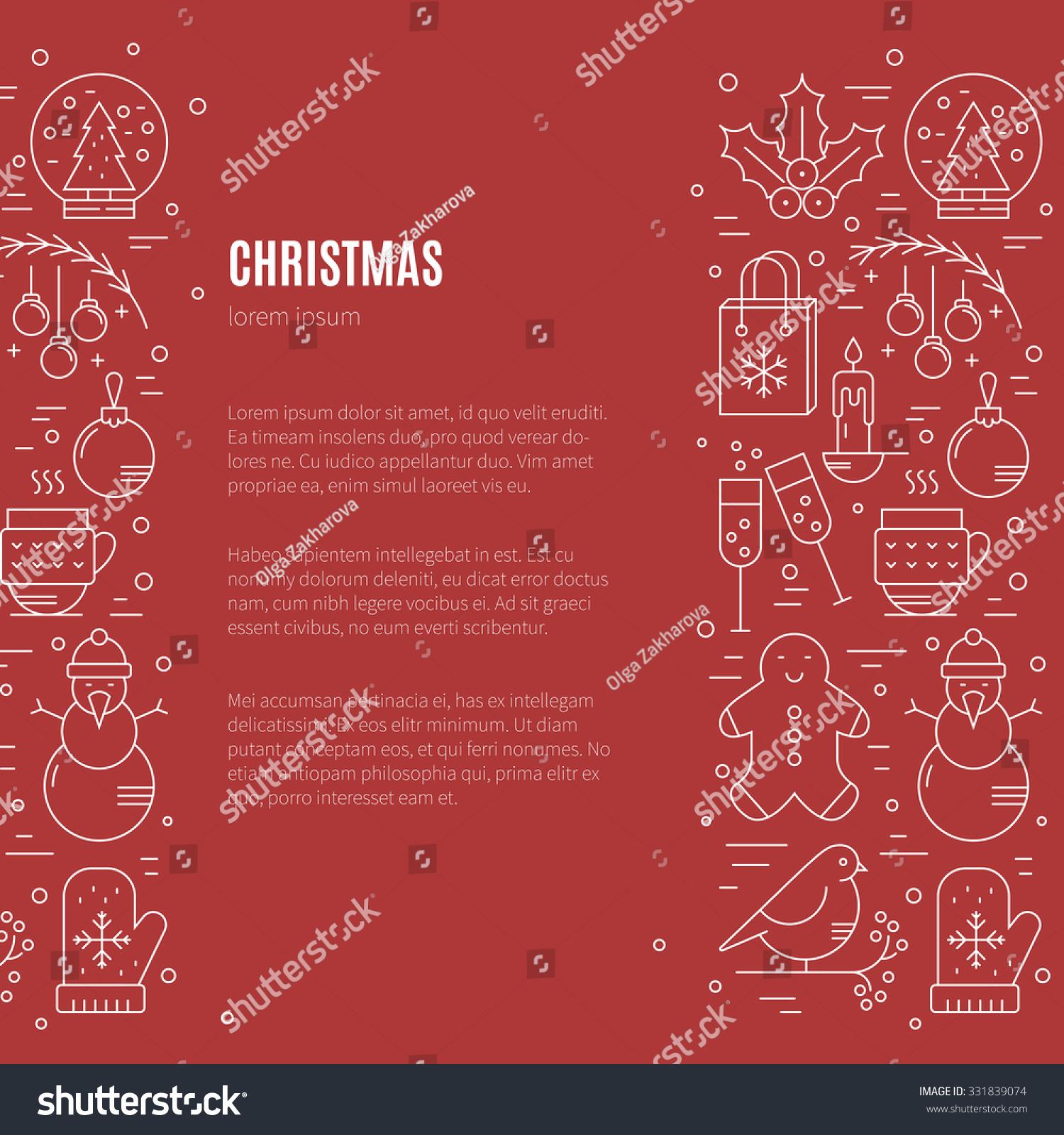 Winter Holidays Concept Stock Vector 331839074 - Shutterstock