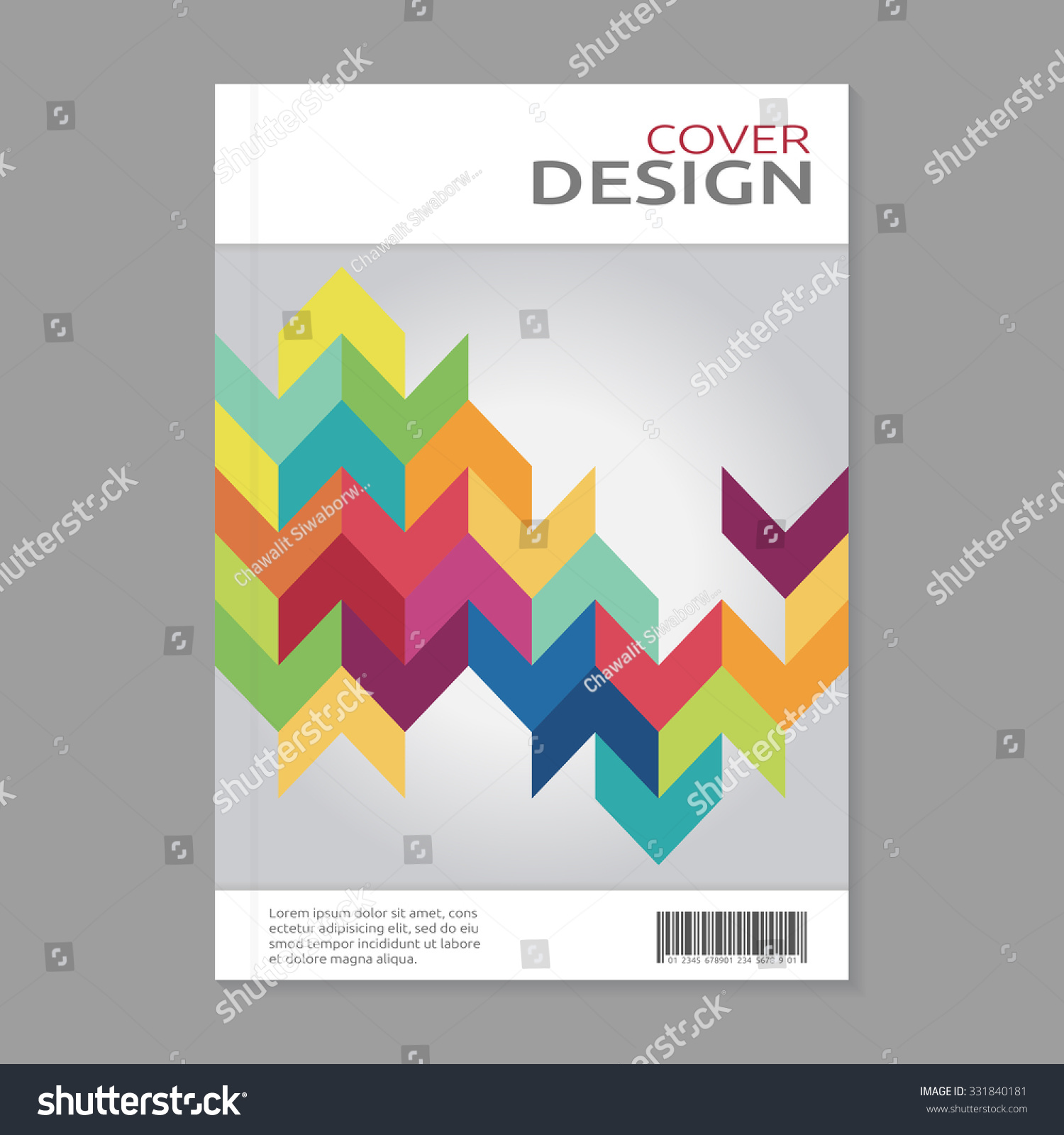 Book Cover Design Pattern : Book cover design template abstract rainbow stock vector