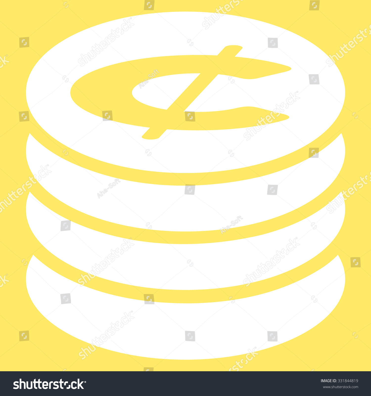 Cent Sign Icon.Money Symbol.vector Illustration Isolated ...  White Cent Sign