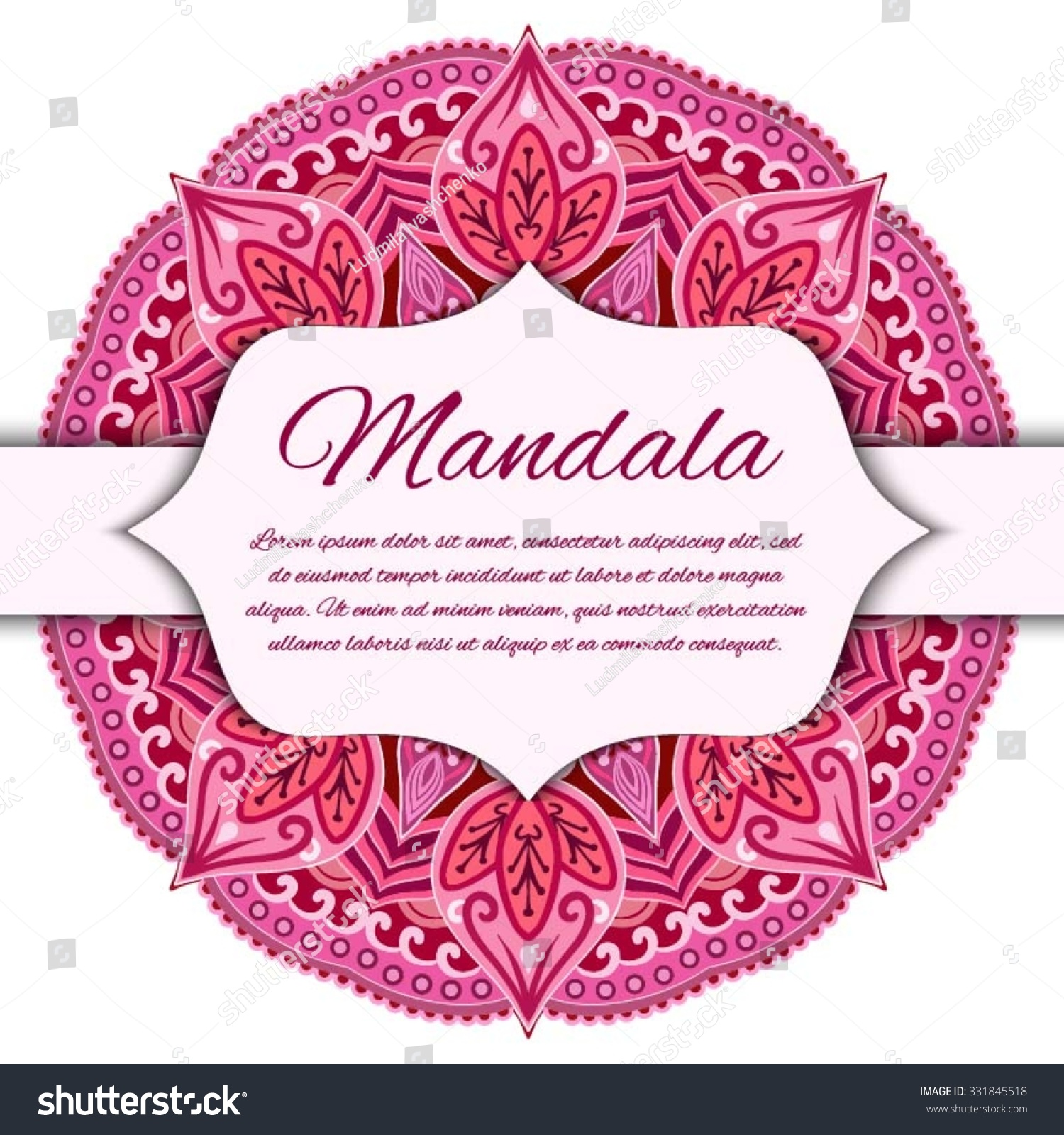 Card With Mandala Vector Background Card Or Invitation