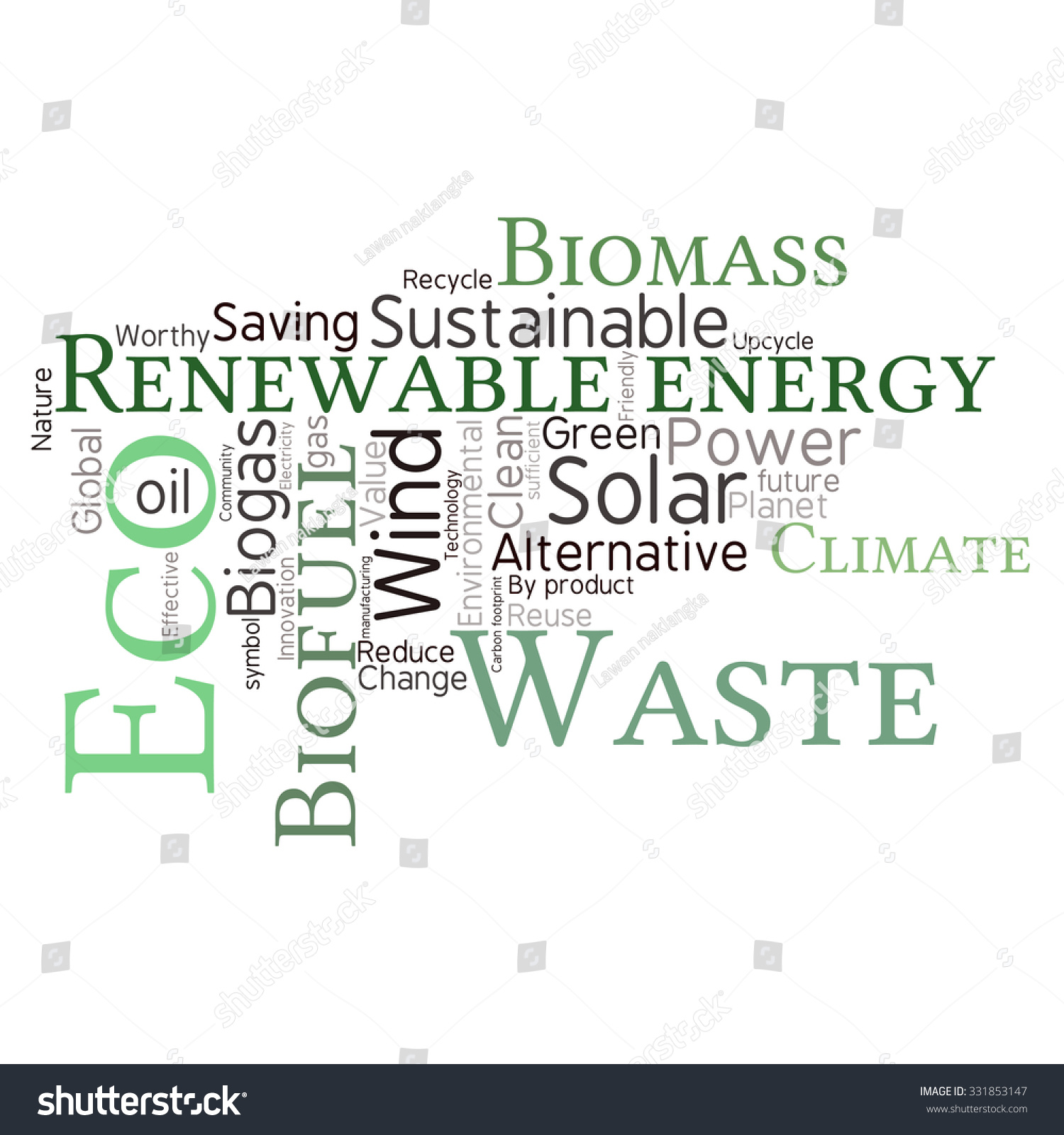 Ecology earth concept word collage environmental stock vector environmental poster design template pronofoot35fo Images