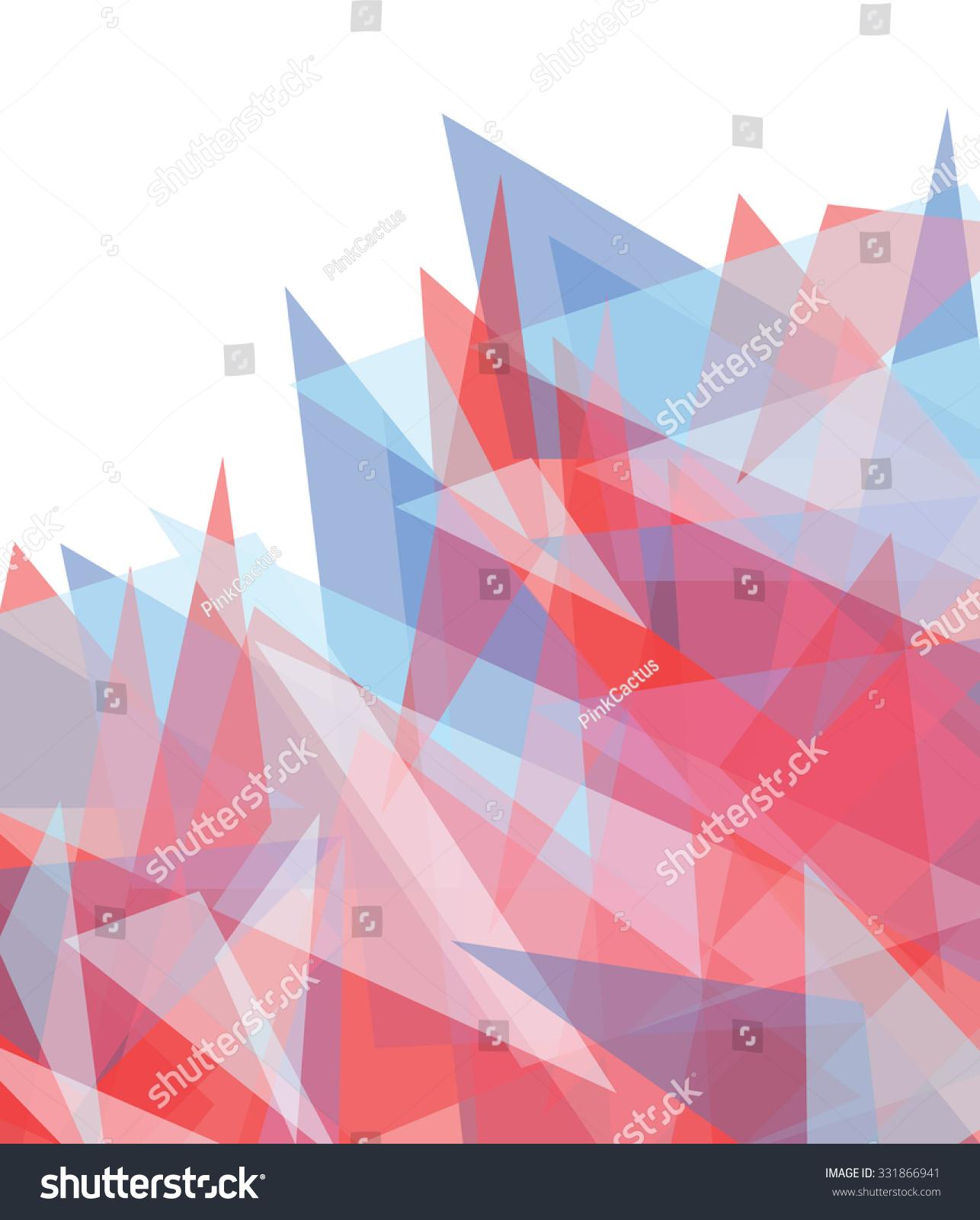 Stock Vektory Na Tema Abstract Background Blue Red Geometric