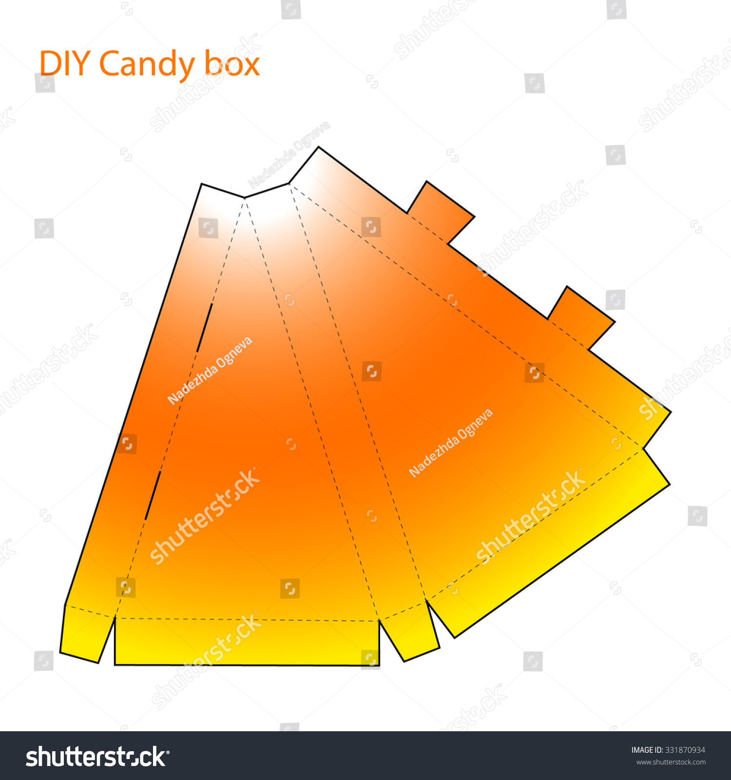 Packaging Diy Craft Cut Folded Paper Stock Vector Royalty Free