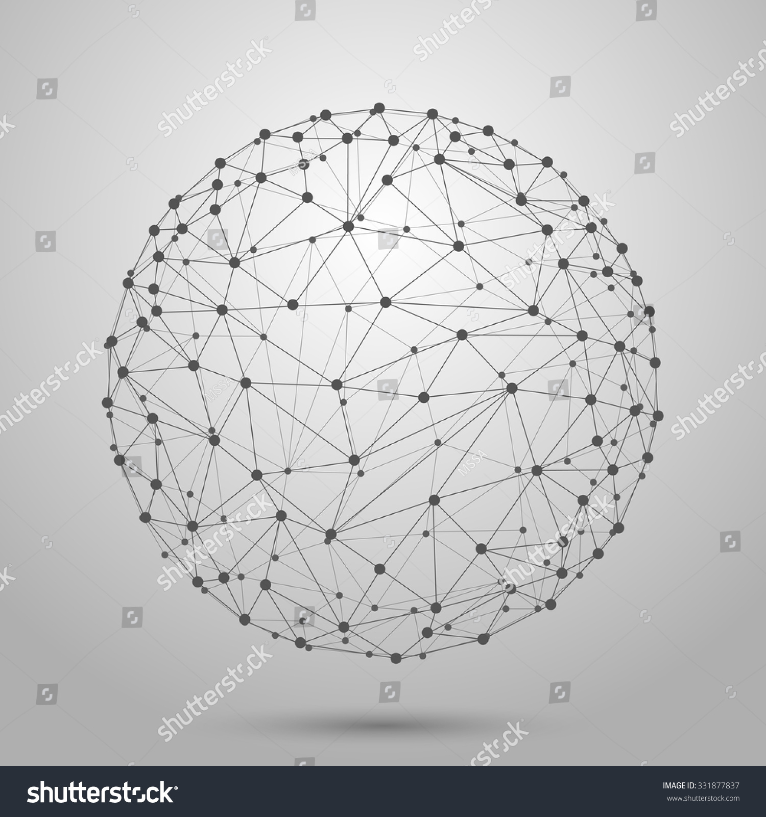 3d Line Design : Wireframe d mesh polygonal vector sphere network line
