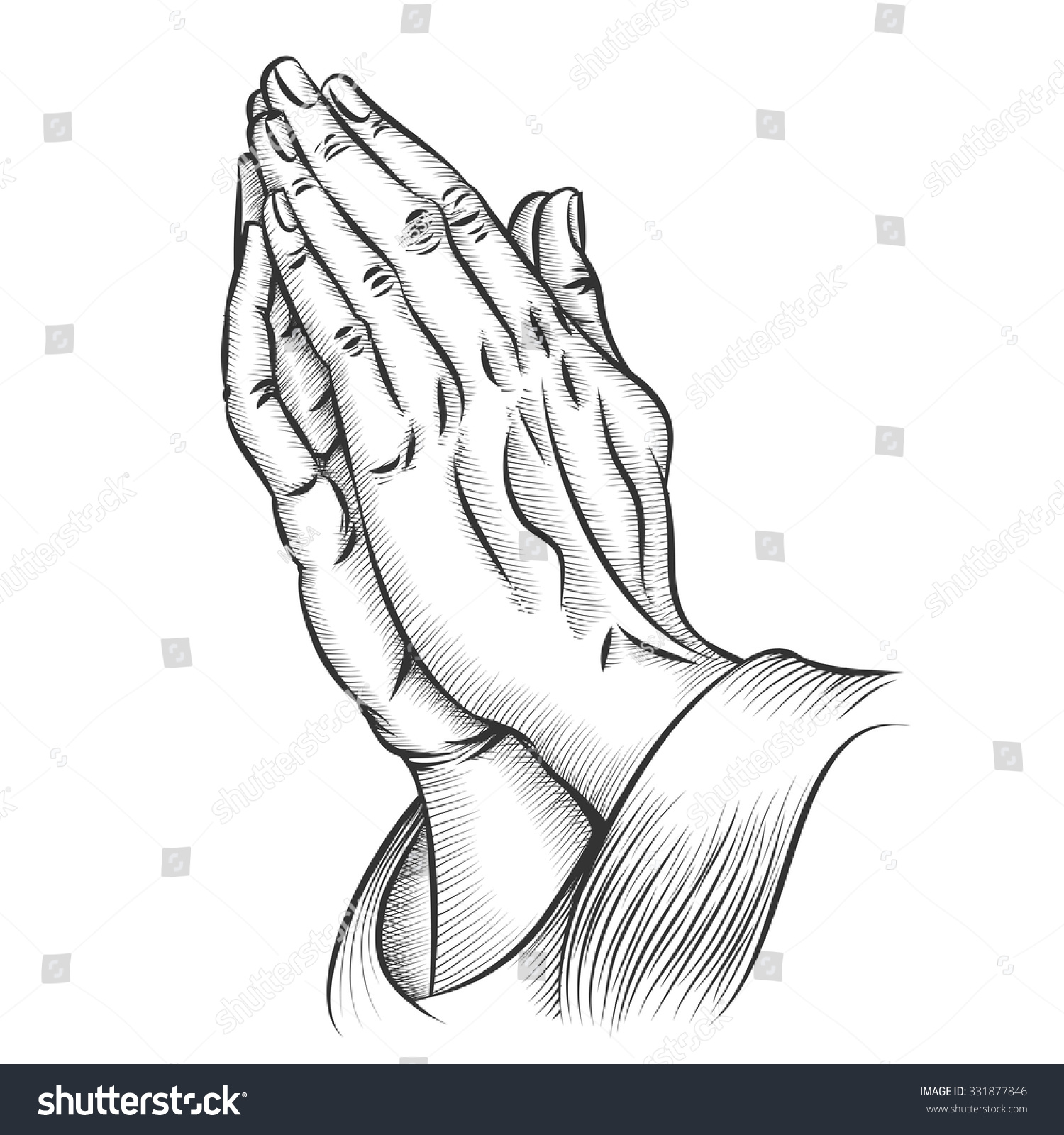 stock-vector-praying-hands-religion-and-