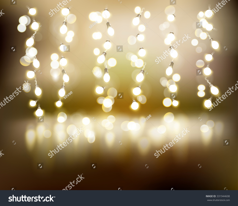 Light Strings Vector Illustration Stock Vector 331944608 - Shutterstock