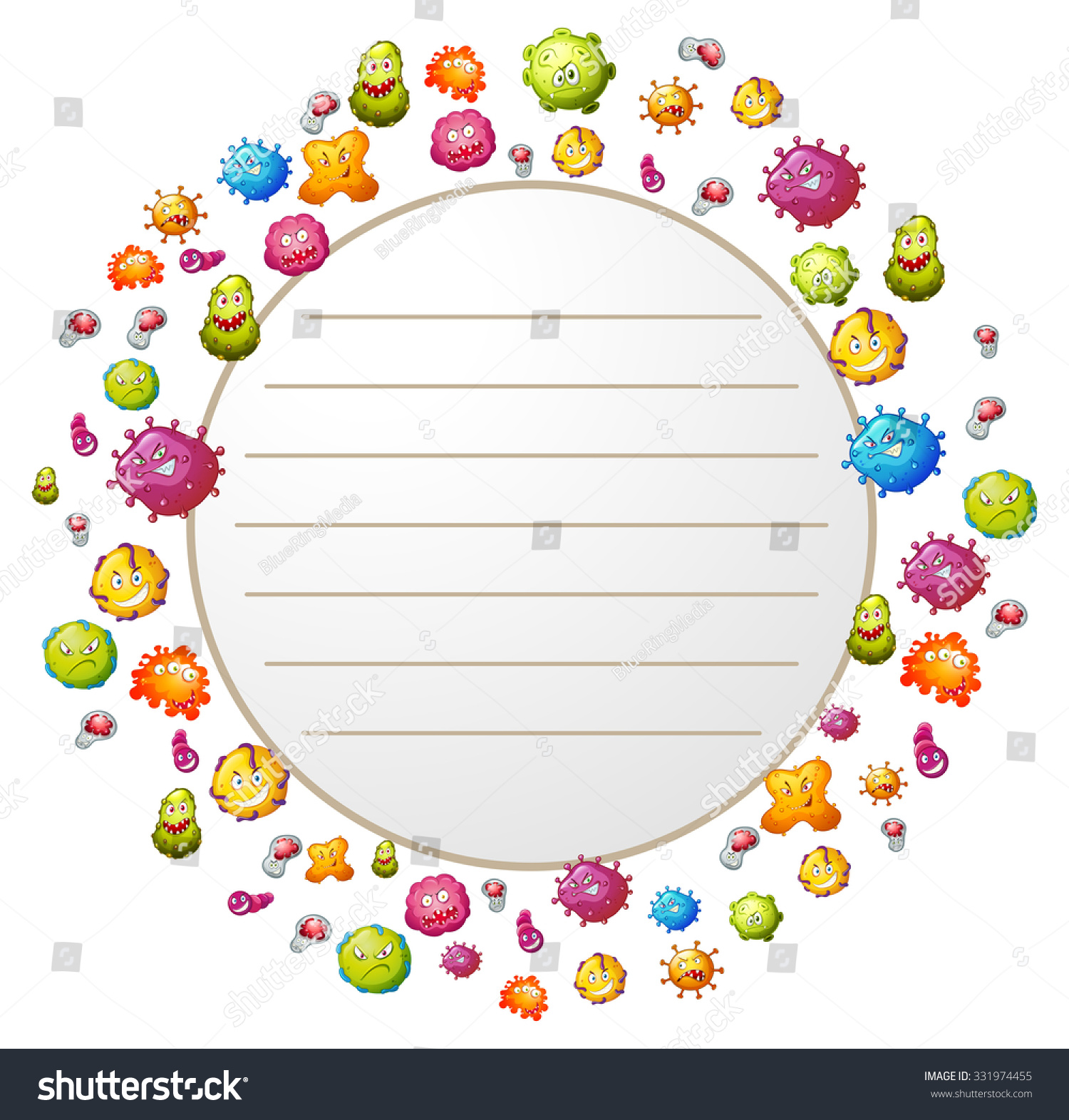 Border design bacteria illustration stock vector 331974455 for Html cell border