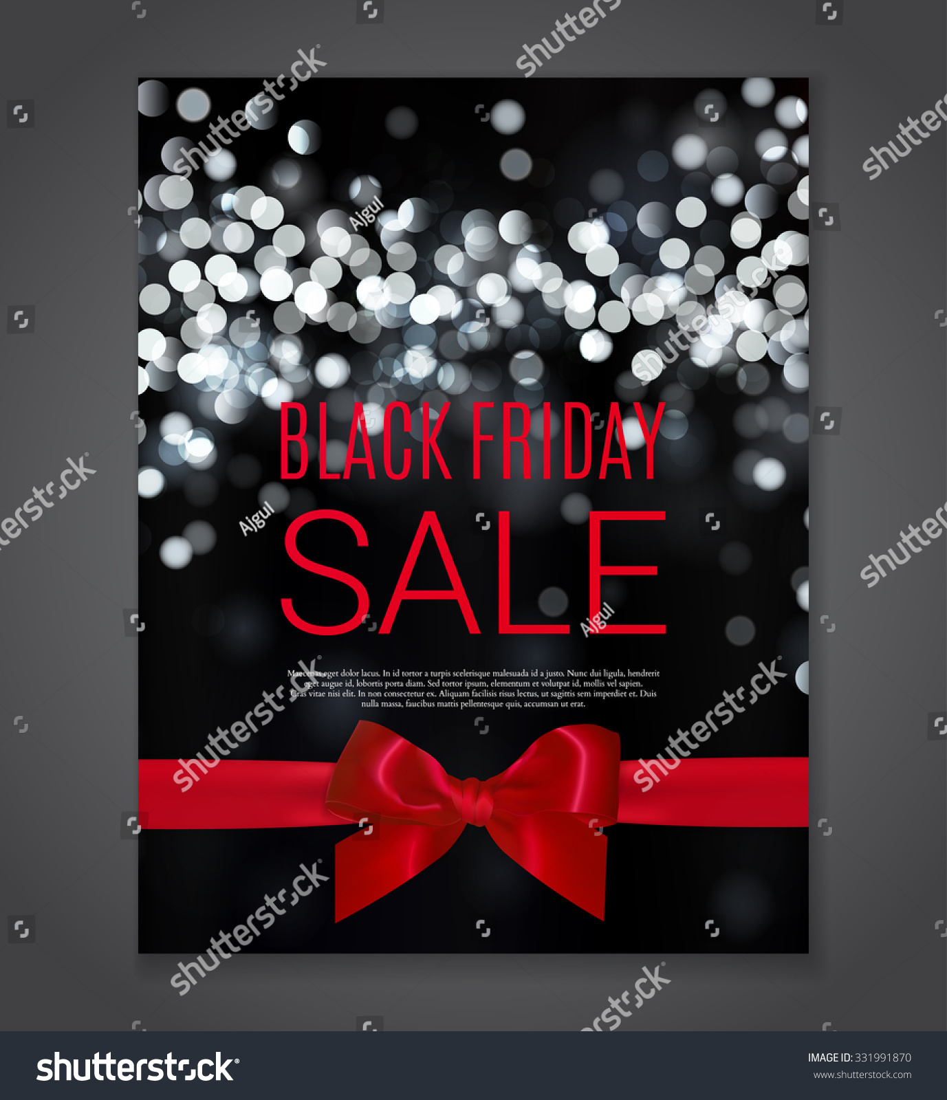 black friday sale background creative abstract background with bokeh lights vector. Black Bedroom Furniture Sets. Home Design Ideas