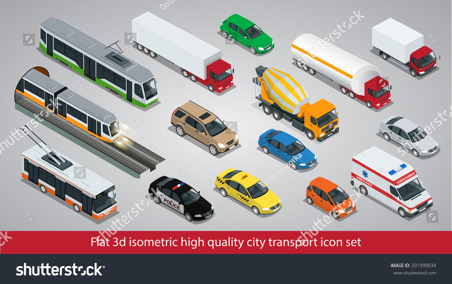 Flat 3d Isometric High Quality City Stock Vector 331999034 ...