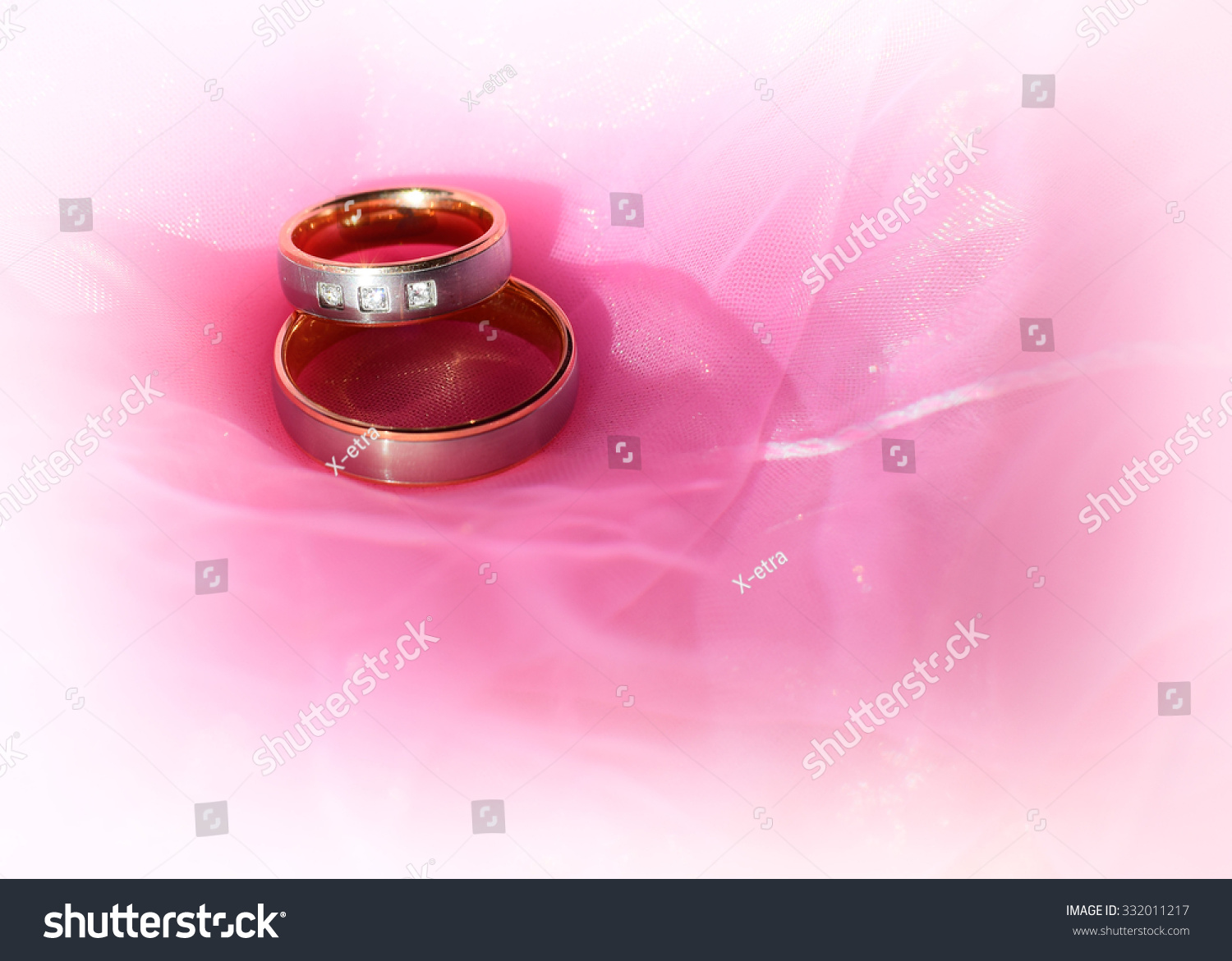 Two Nice Wedding Rings Love Concept Stock Photo (Royalty Free ...