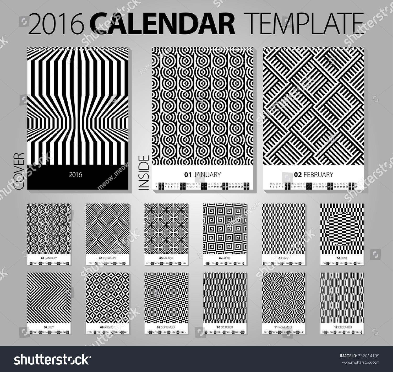 Calendar Design Concept : Calendar vector design template abstract stock