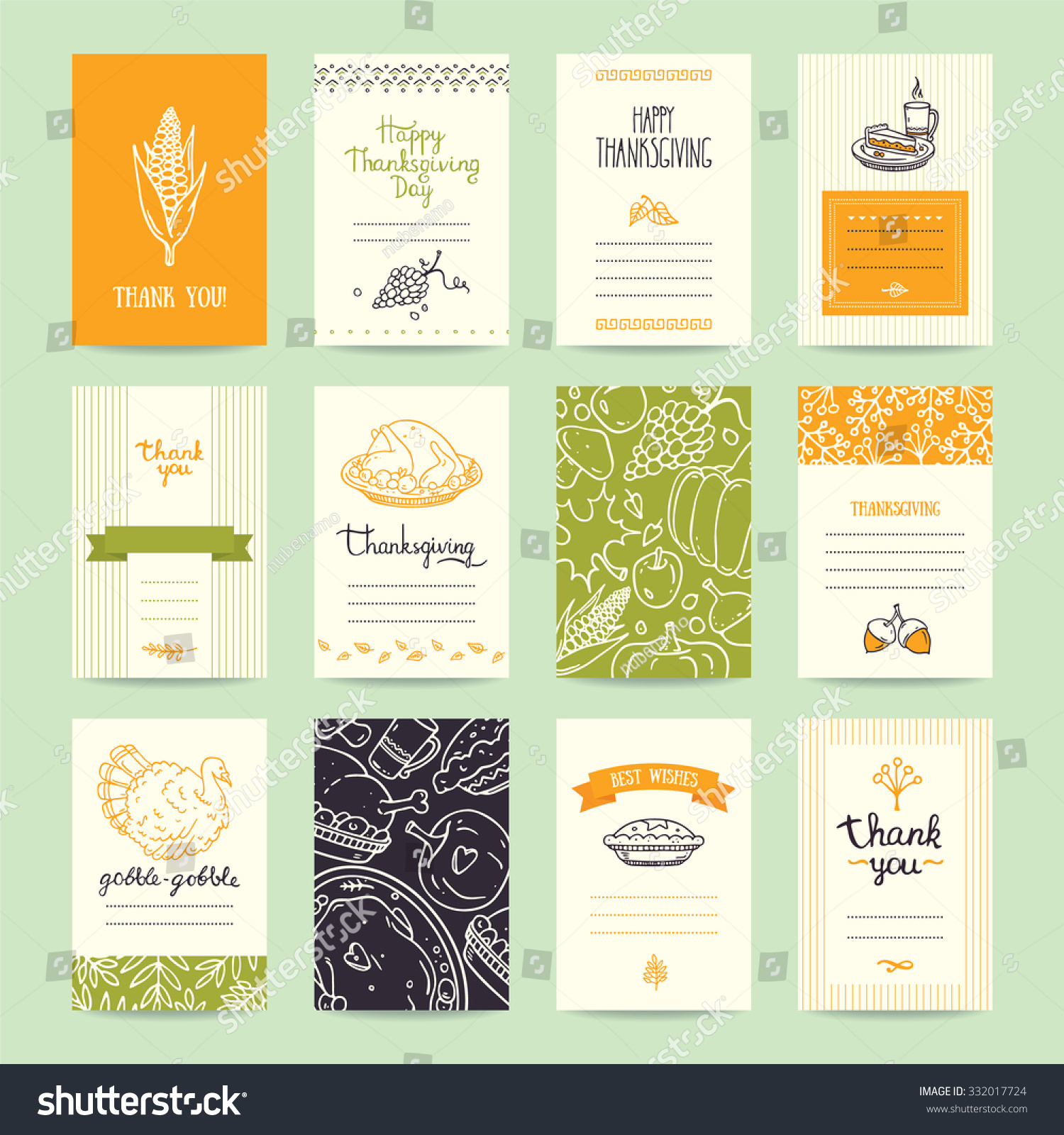 thanksgiving party invitation greeting card flyer stock vector thanksgiving party invitation and greeting card flyer banner poster templates hand drawn