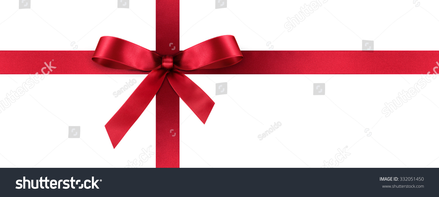 Red satin gift ribbon decorative bow stock photo 332051450 red satin gift ribbon with decorative bow horizontal panorama banner christmas easter negle Images