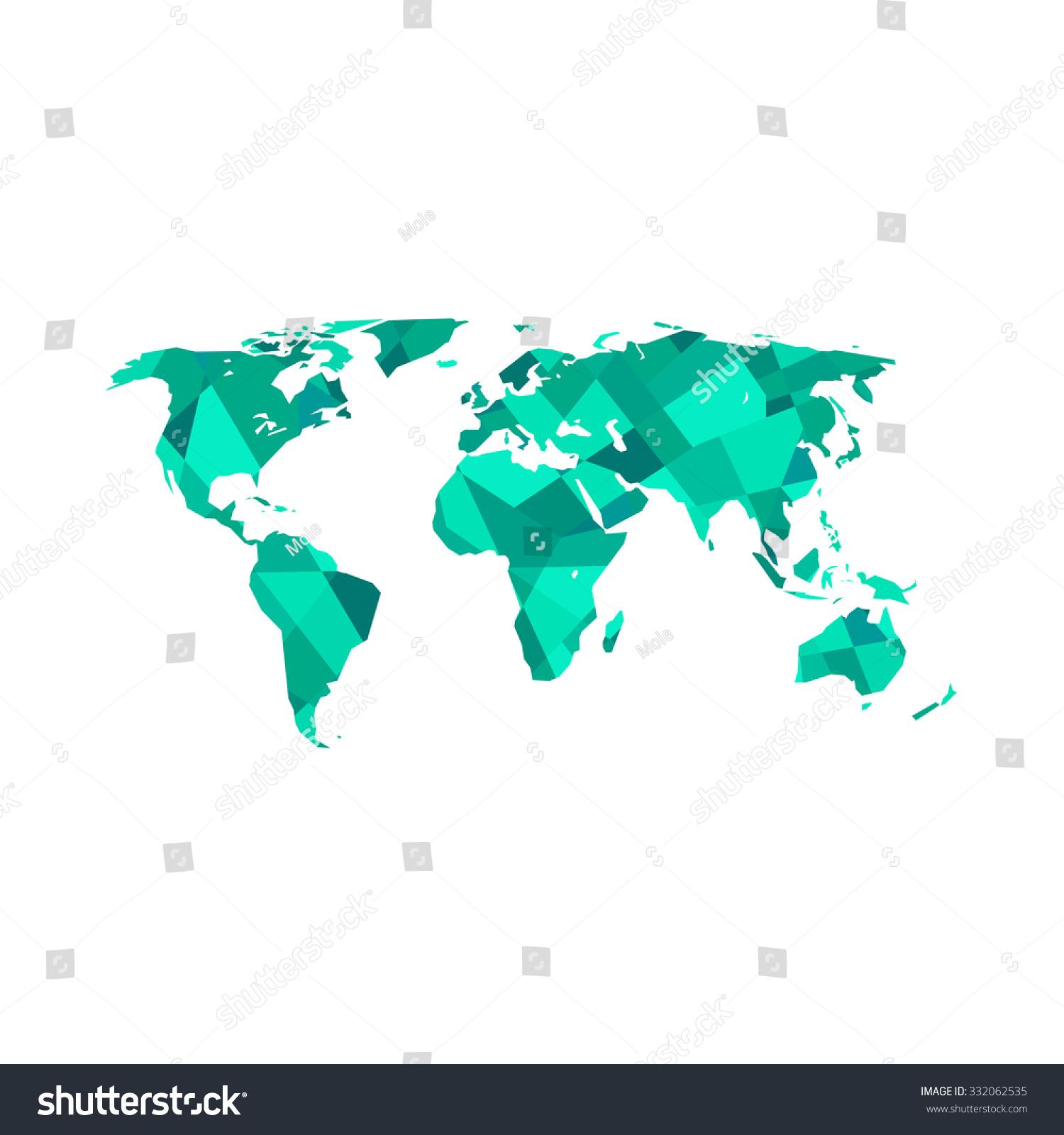Polygonal world map vector illustration stock vector 332062535 polygonal world map vector illustration gumiabroncs Images