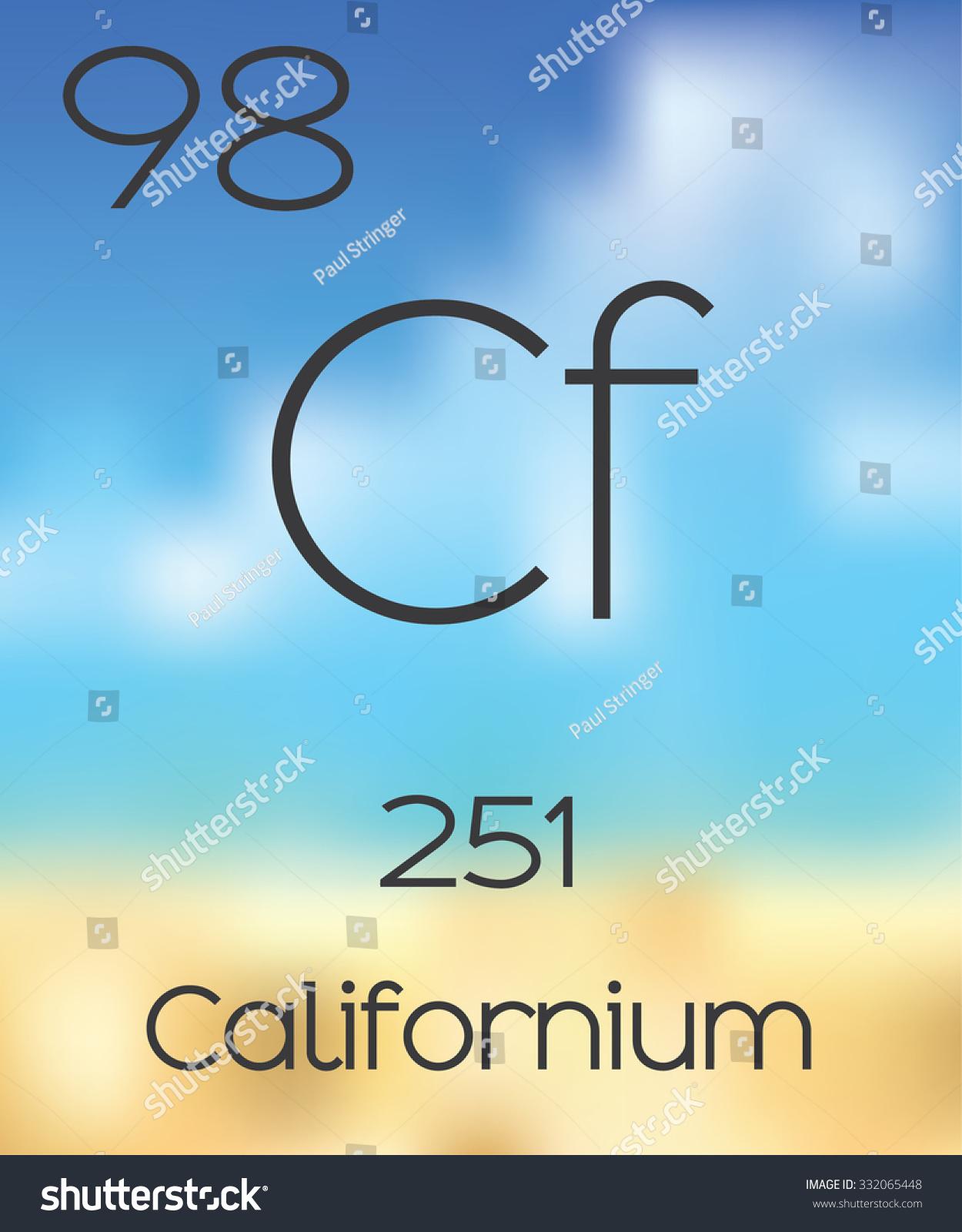 Periodic table elements californium stock illustration 332065448 the periodic table of the elements californium gamestrikefo Images