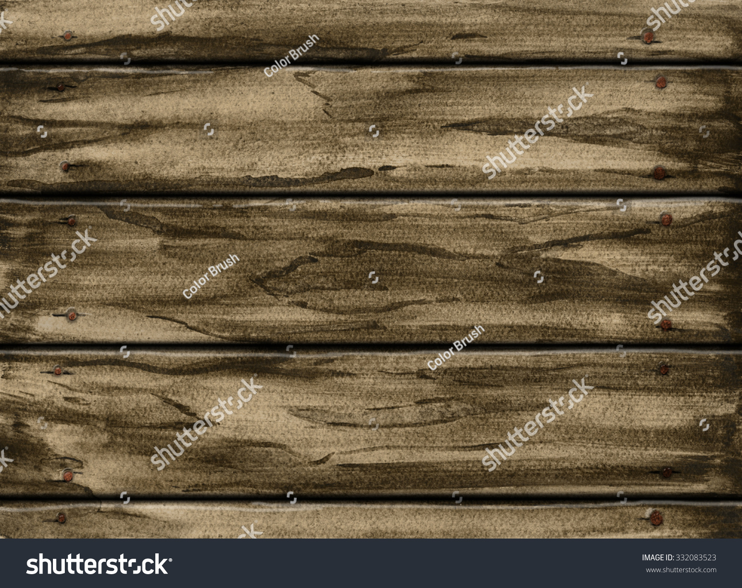 Wood texture wooden plank - Watercolor Wood Texture Wooden Plank Background Hand Painting On Paper