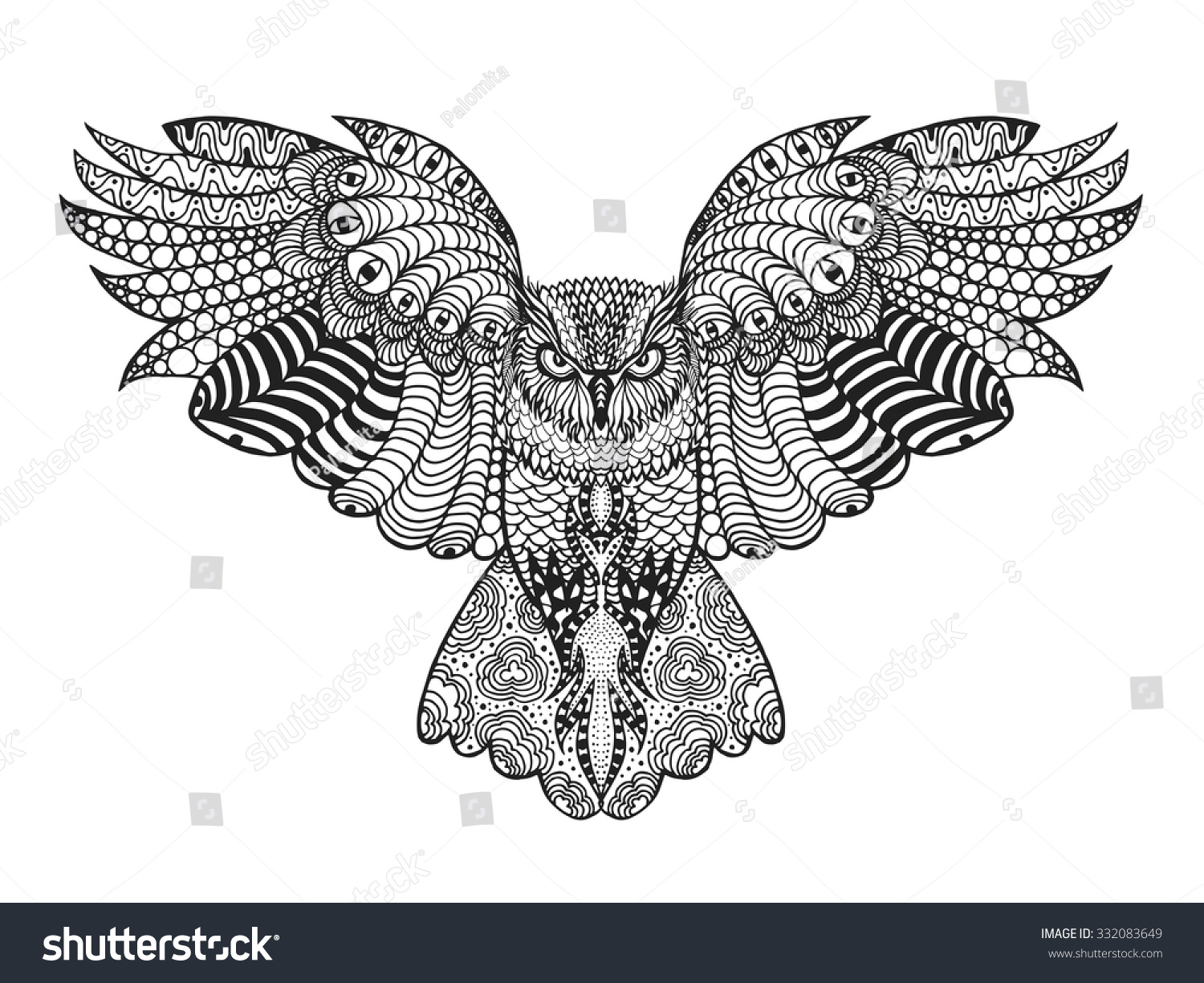 Psychedelic Owl Coloring Pages Galleryhipcom The