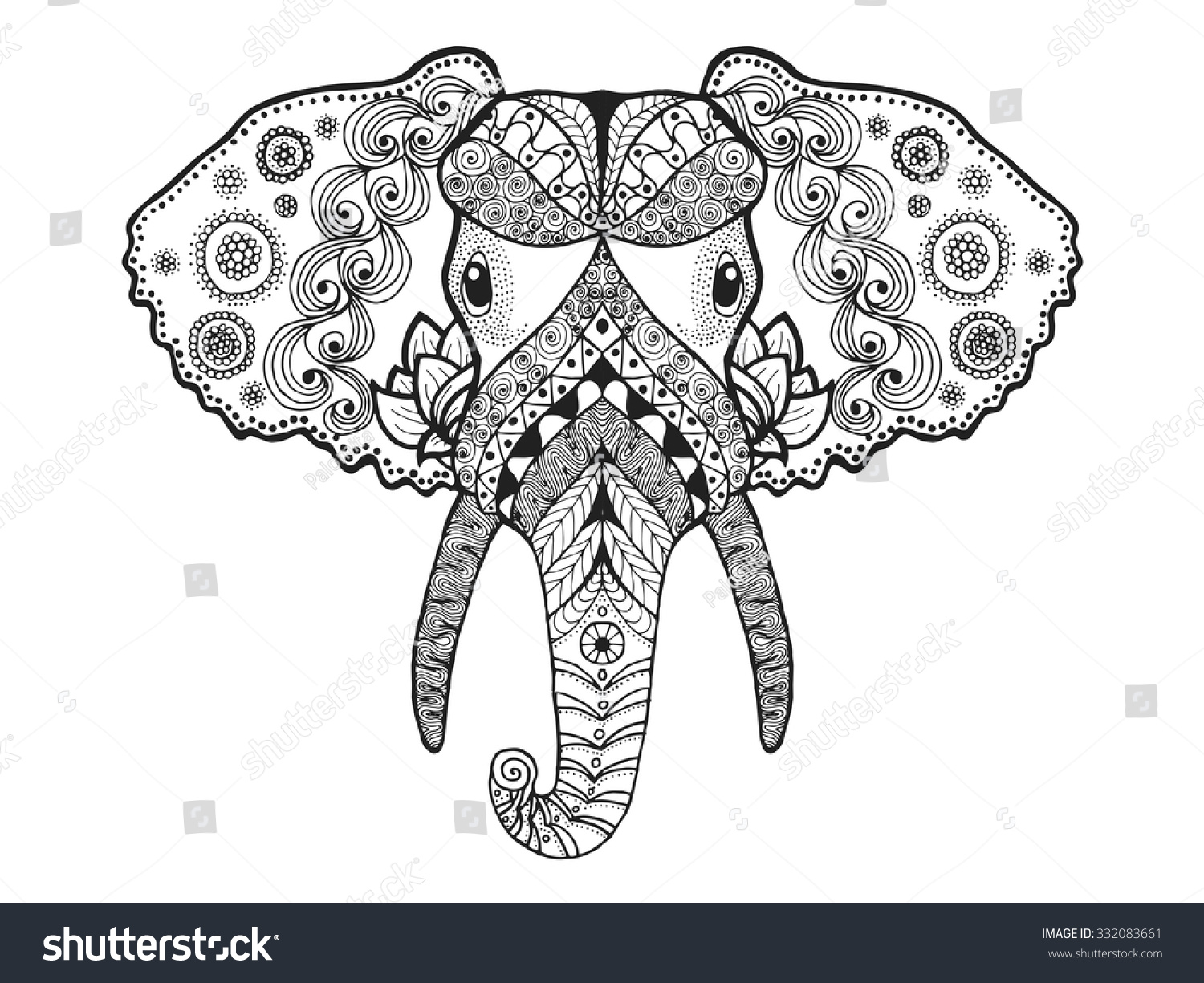 tribal animal coloring pages - photo#35