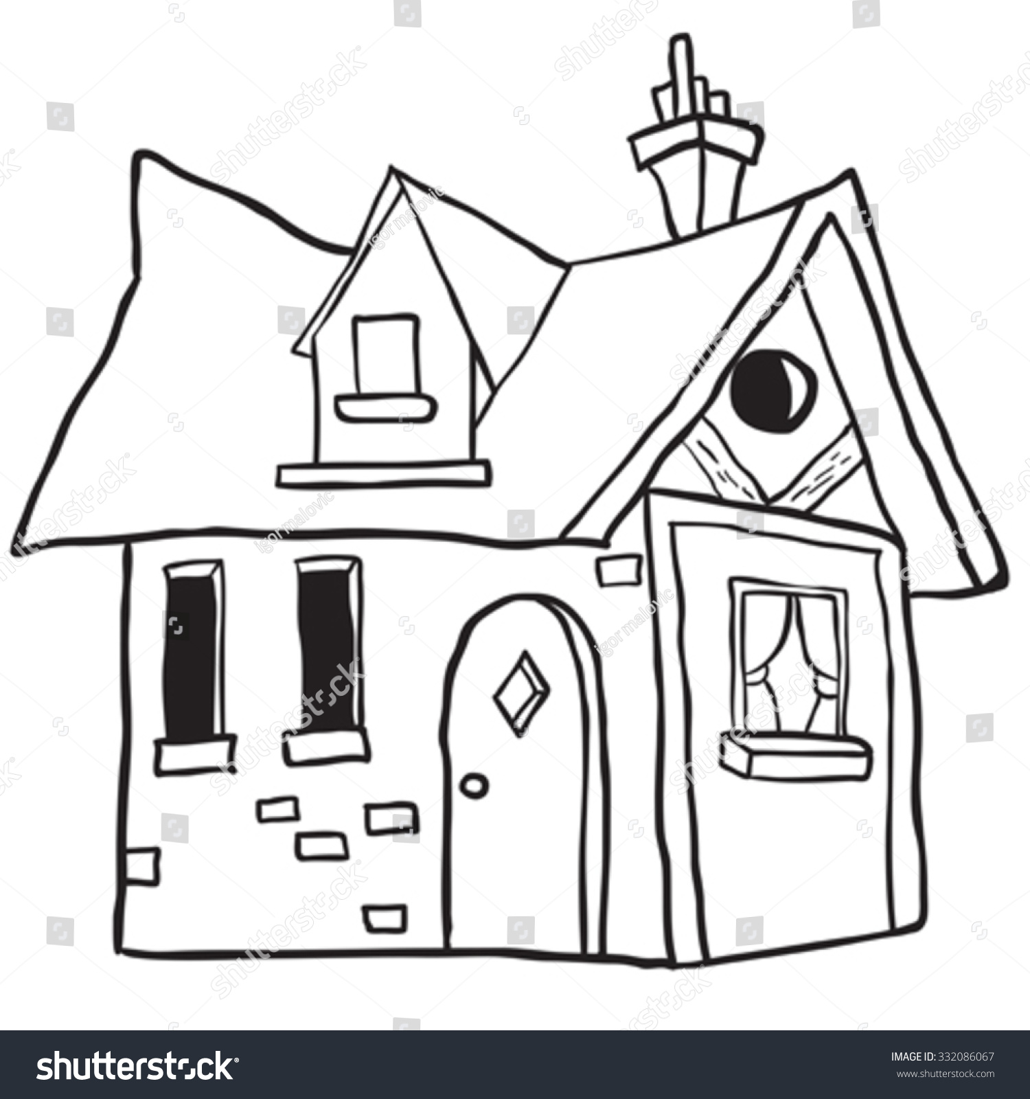 black and white cartoon house wwwpixsharkcom images